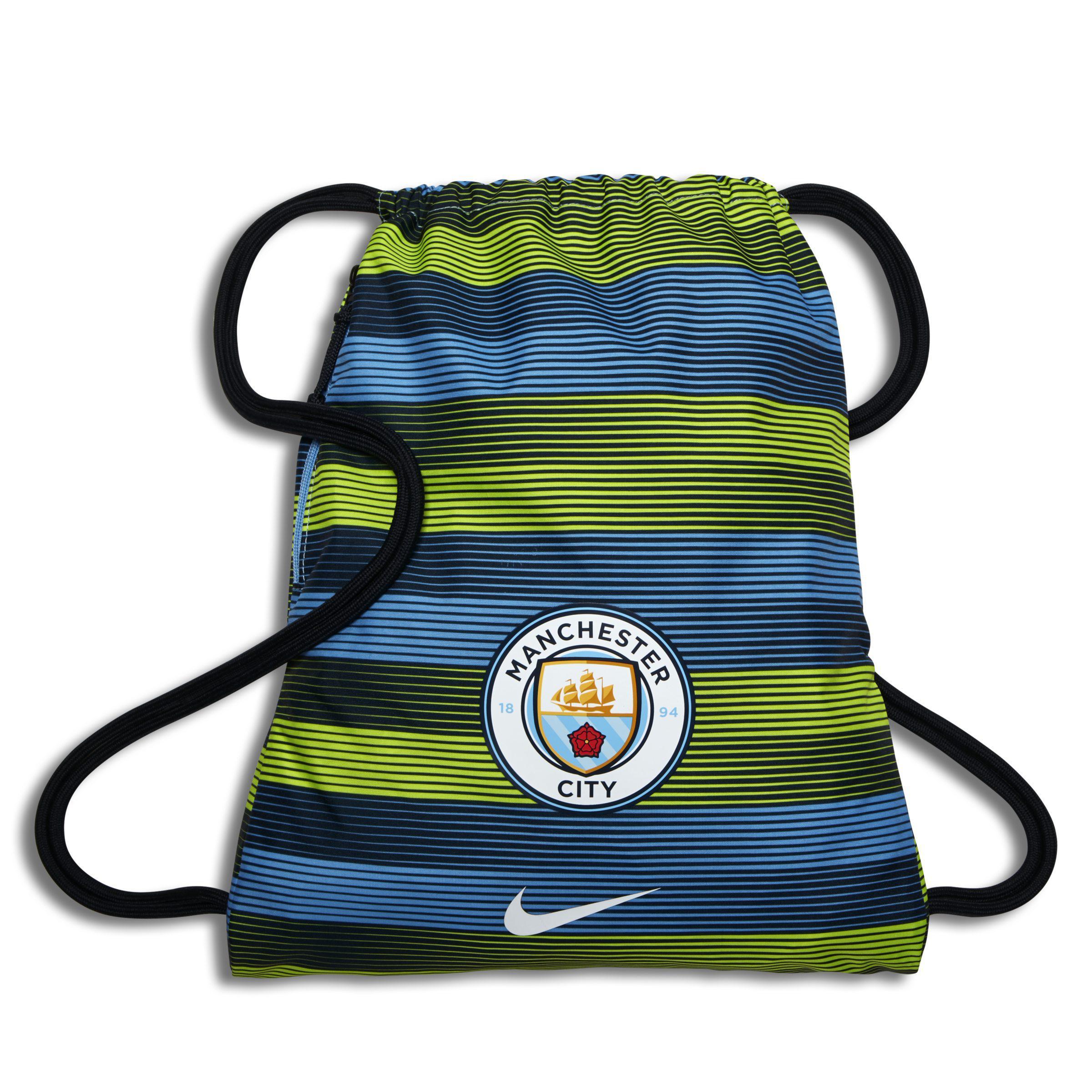 5632df44d5 Nike Manchester City Fc Stadium Football Gymsack in Blue - Lyst