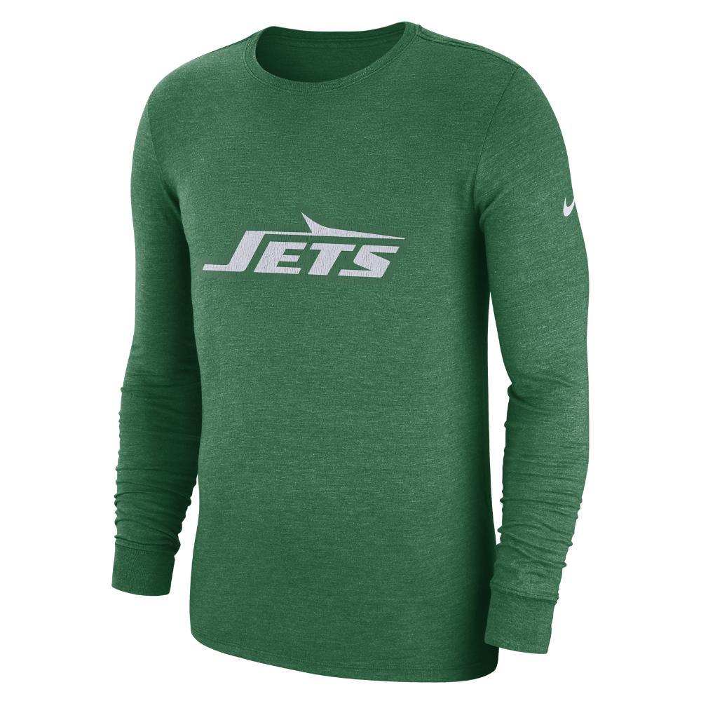 74edb243a Lyst - Nike (nfl Jets) Men s Tri-blend Long Sleeve T-shirt in Green ...