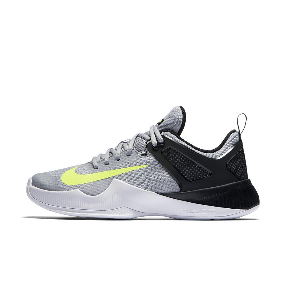 lyst nike air zoom hyperace di pallavolo femminile scarpa in grigio.