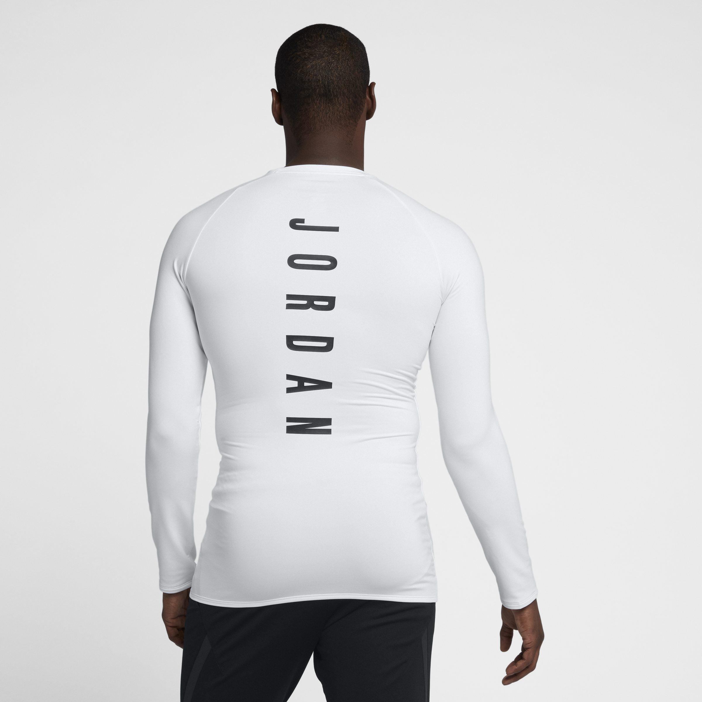 90a5357ba204 Nike Jordan 23 Alpha Long-sleeve Basketball Top in White for Men - Lyst