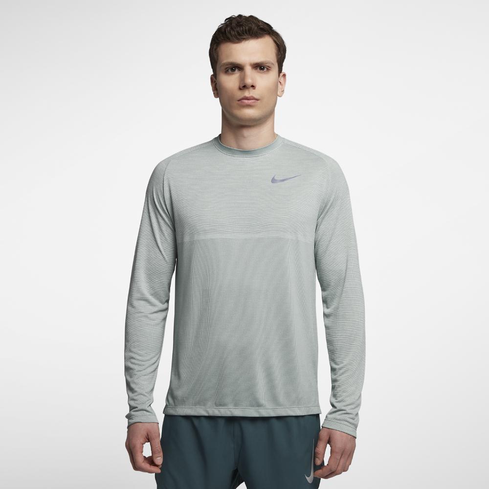 c473555d Nike Dri-fit Medalist Men's Long Sleeve Running Top in Gray for Men ...