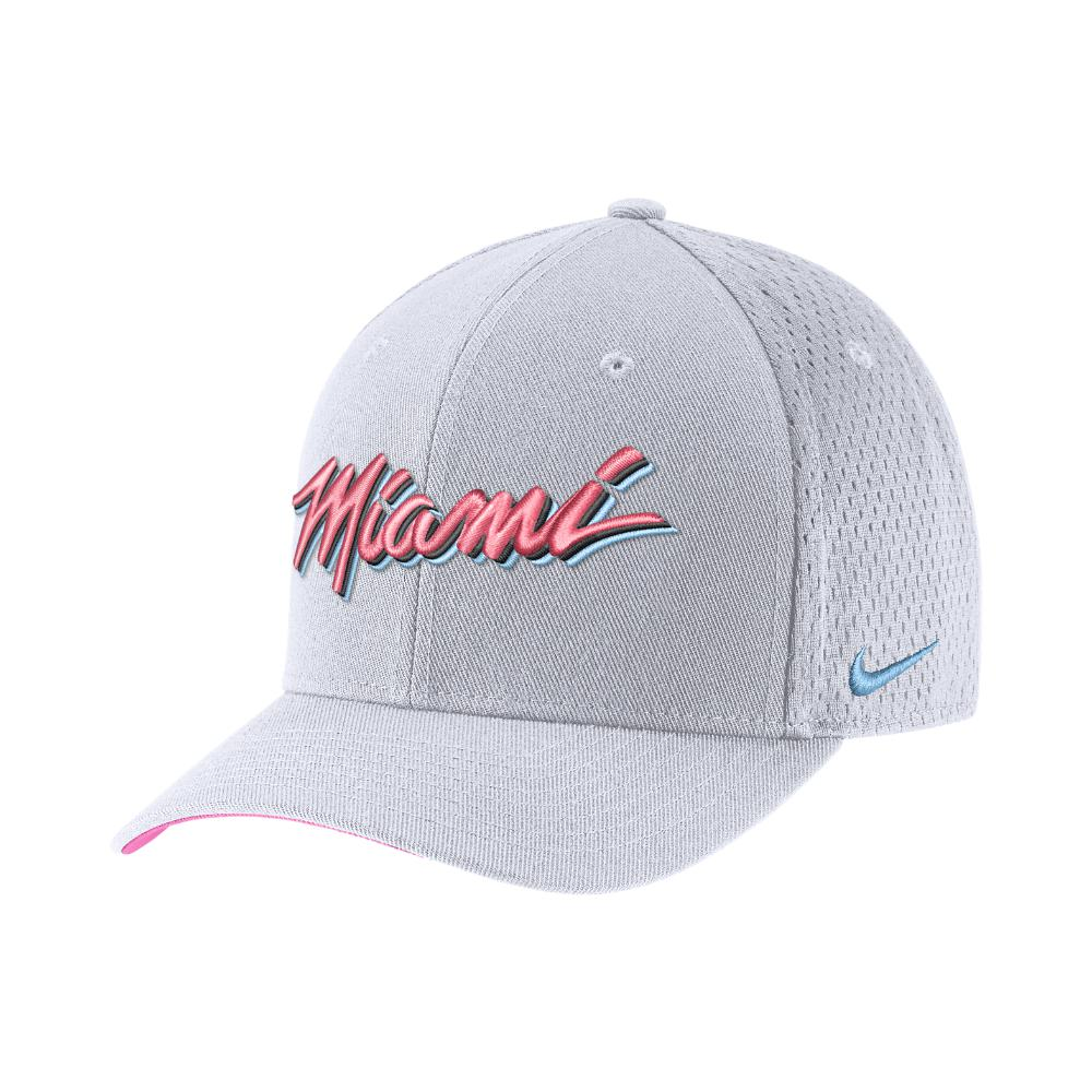 ae62f174764 Lyst - Nike Miami Heat City Edition Classic99 Nba Hat (white ...