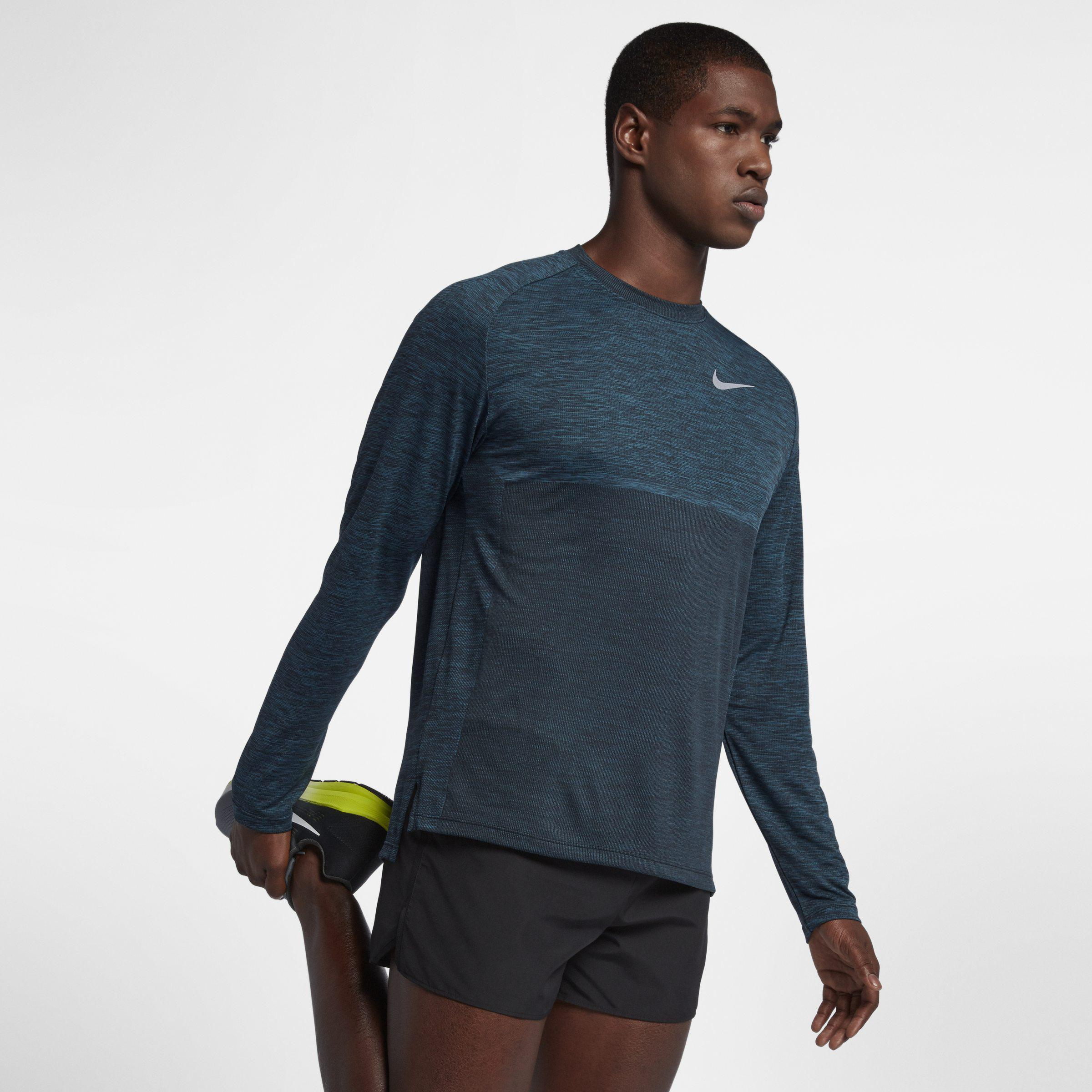 0d49fa11 Nike Dri-fit Medalist Long-sleeve Running Top in Blue for Men - Lyst