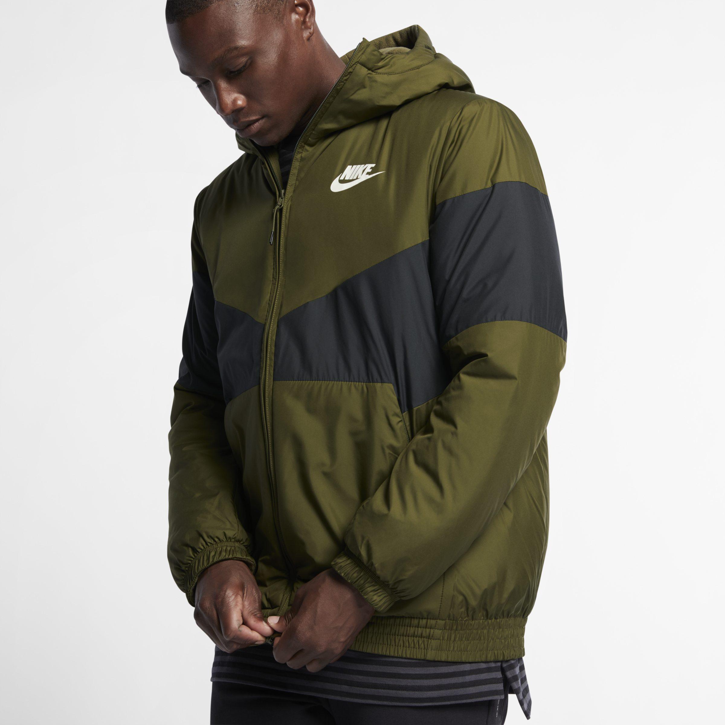 ee26d1bf90a65 Nike Sportswear Synthetic Fill Hooded Jacket in Green for Men - Lyst