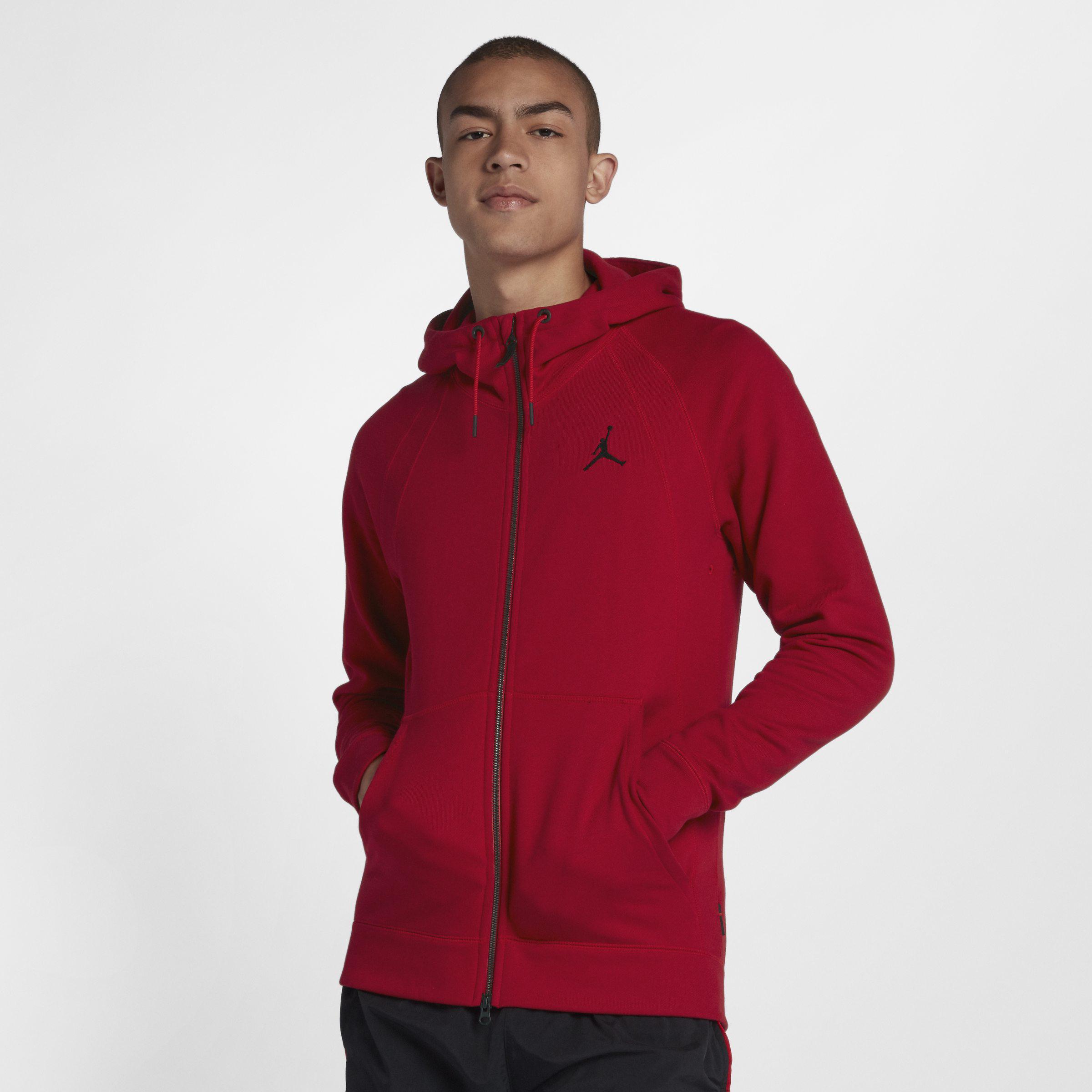 7c586e77bc64e8 Nike Jordan Lifestyle Wings Fleece Full-zip Hoodie in Red for Men - Lyst