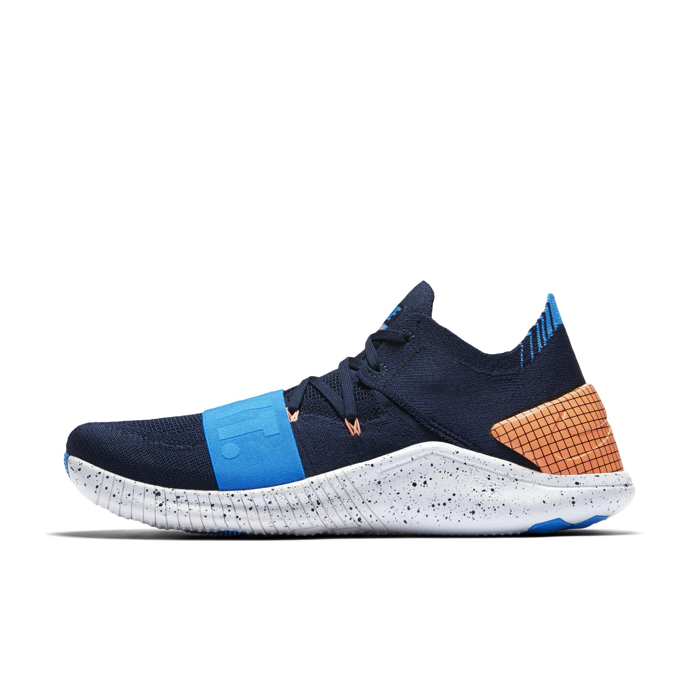 229c308bfe17a Nike Free Tr Flyknit 3 Neo Training Shoe in Blue - Lyst
