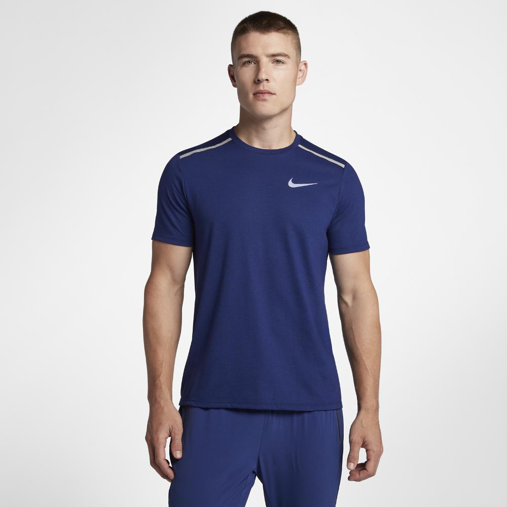 d8b09a5c3e91ef Lyst - Nike Dri-fit Rise 365 Men s Short Sleeve Running Top in Blue ...