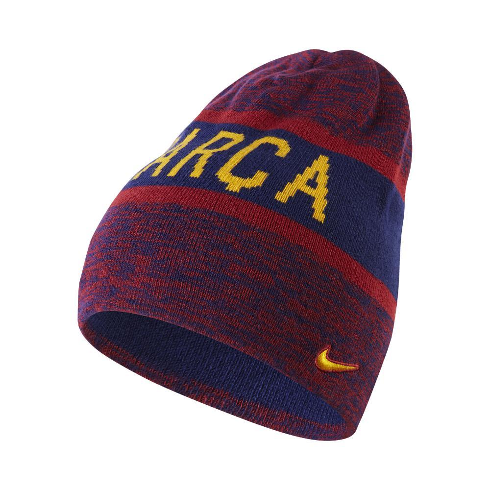 3848dbdbdb8 ... low price lyst nike fc barcelona knit hat blue in blue for men e742b  3dba4