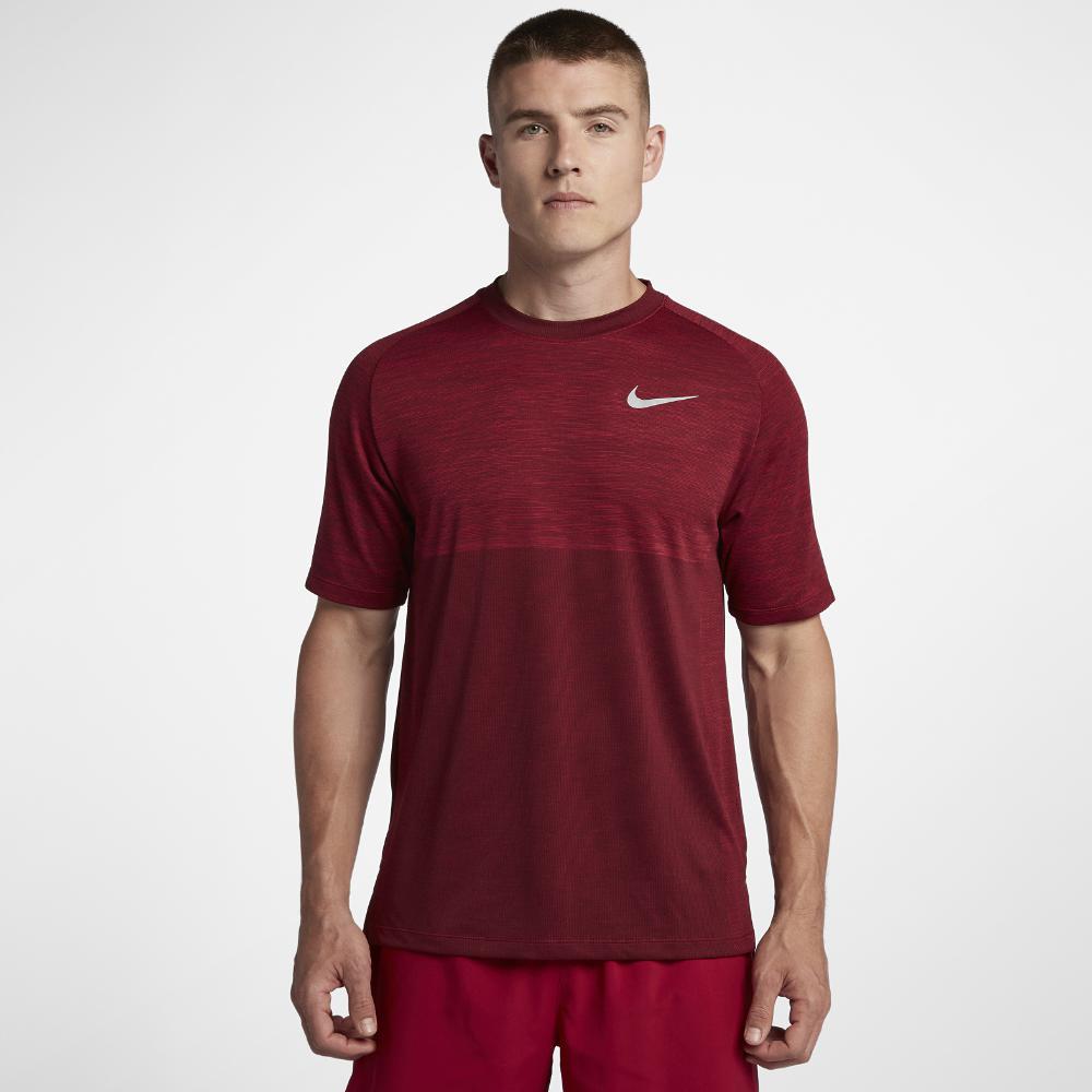 74350341 Lyst - Nike Dri-fit Medalist Men's Short Sleeve Running Top in Red ...