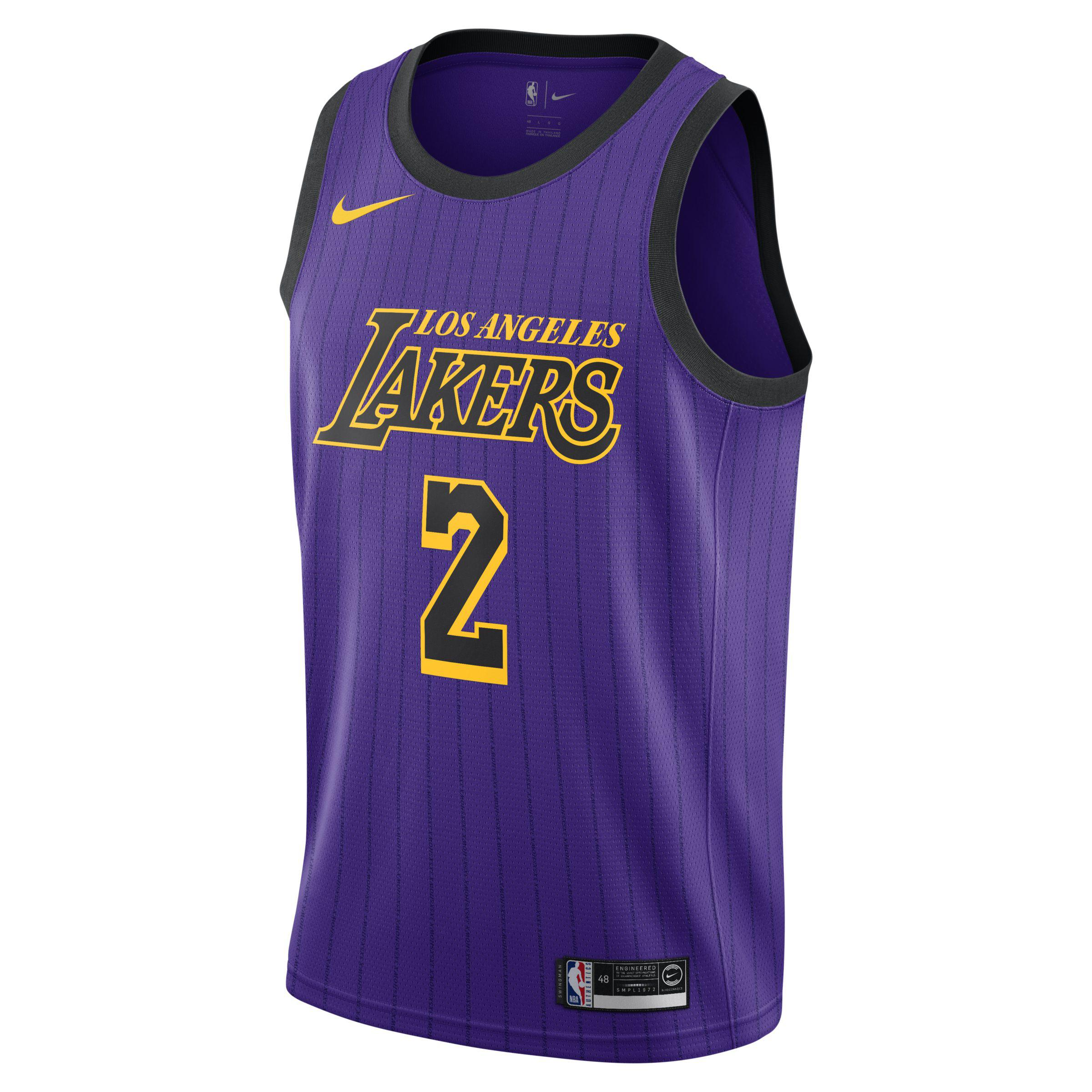 7cfa555a9619 Nike Lonzo Ball City Edition Swingman (los Angeles Lakers) Nba ...