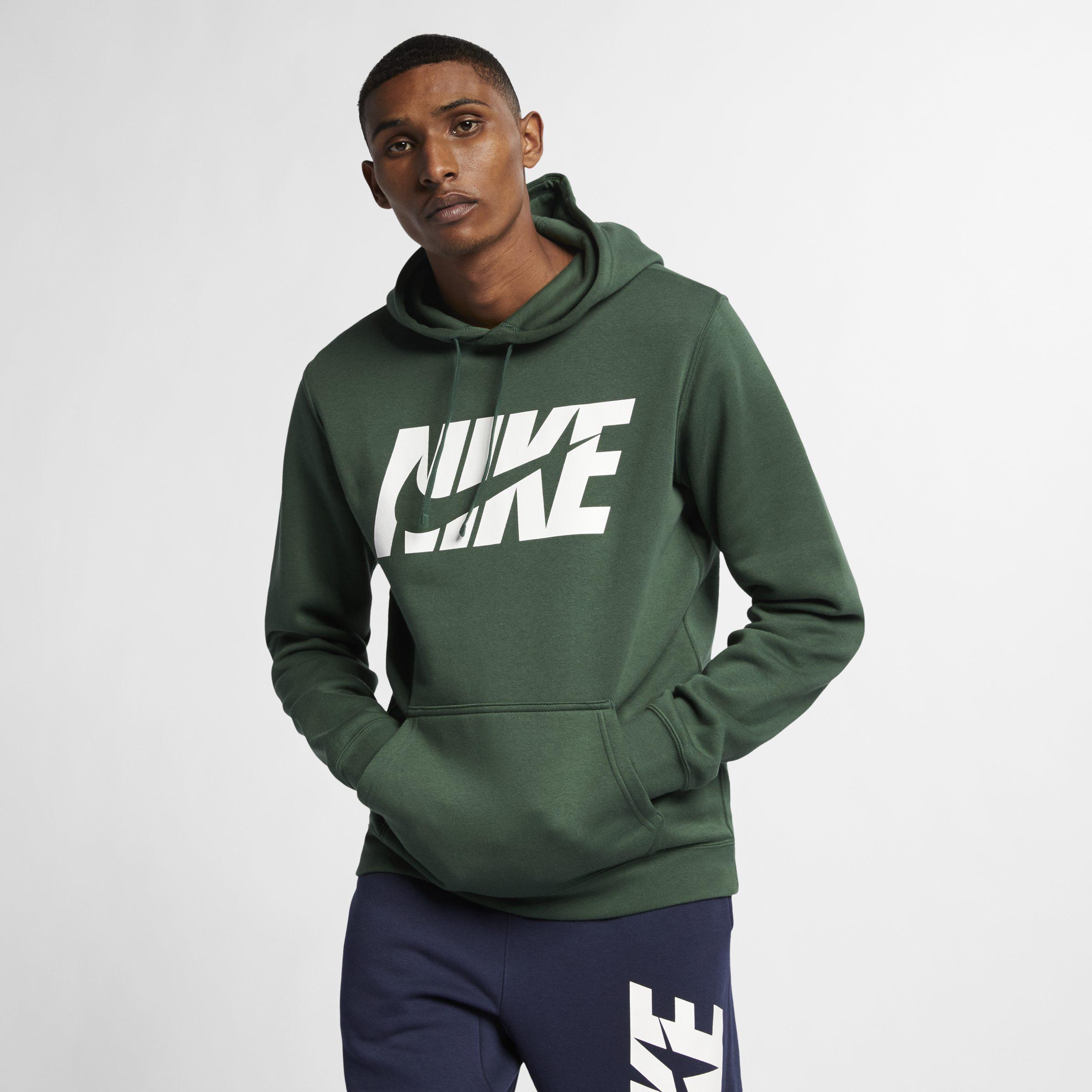 56e54db1e22d Nike Sportswear Fleece Graphic Tracksuit in Green for Men - Lyst