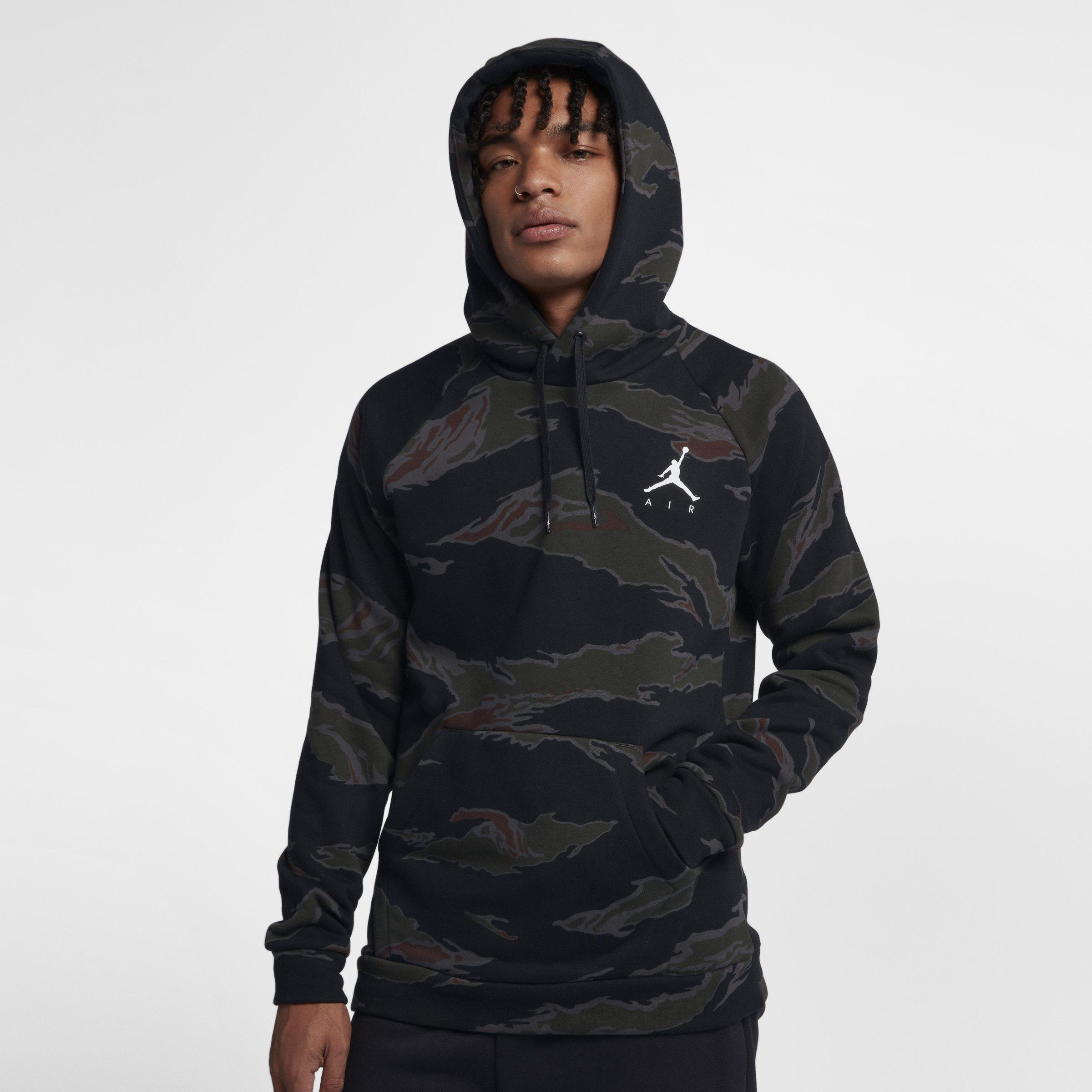 ca6457cb8c3396 Nike Jordan Sportswear Jumpman Camo Fleece Sweatshirt in Black for ...