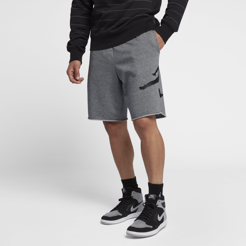 f9d8ed975ee Nike Jordan Jumpman Logo Fleece Shorts in Gray for Men - Lyst