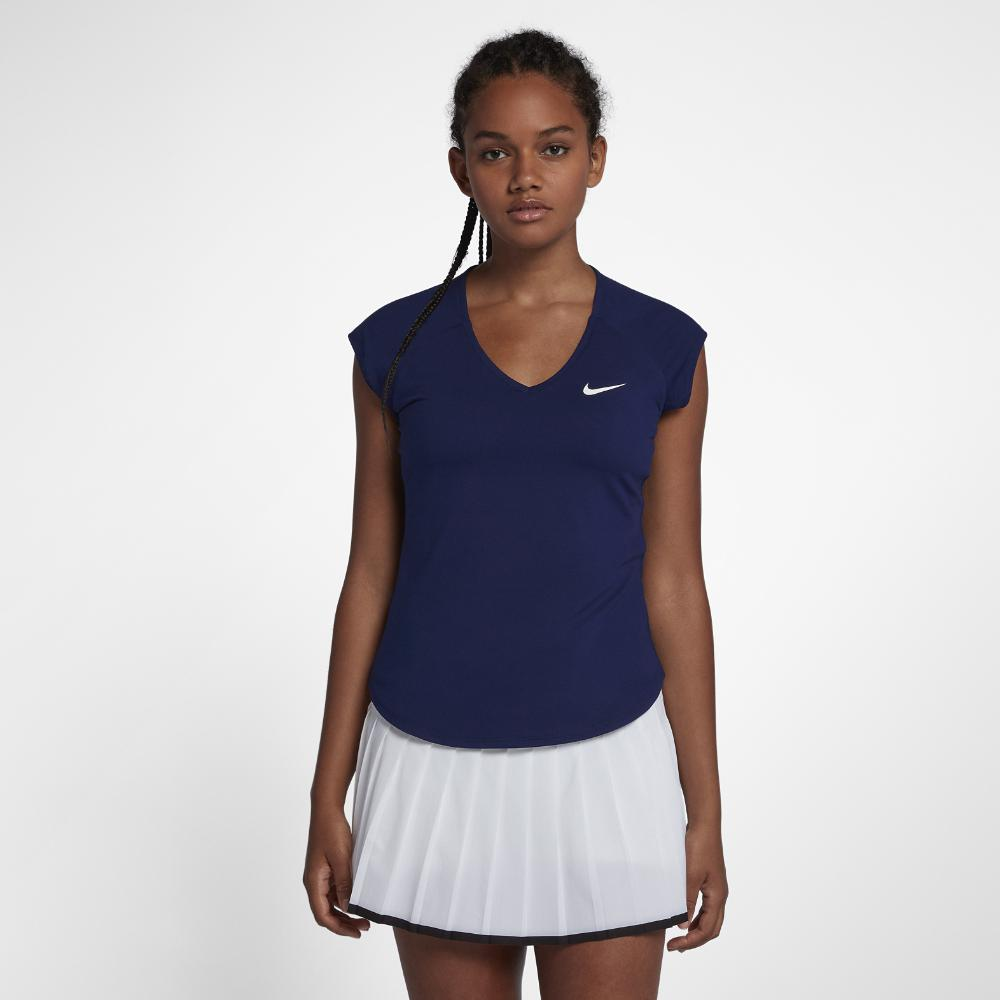1461f346 Lyst - Nike Court Pure Women's Tennis Top in Blue