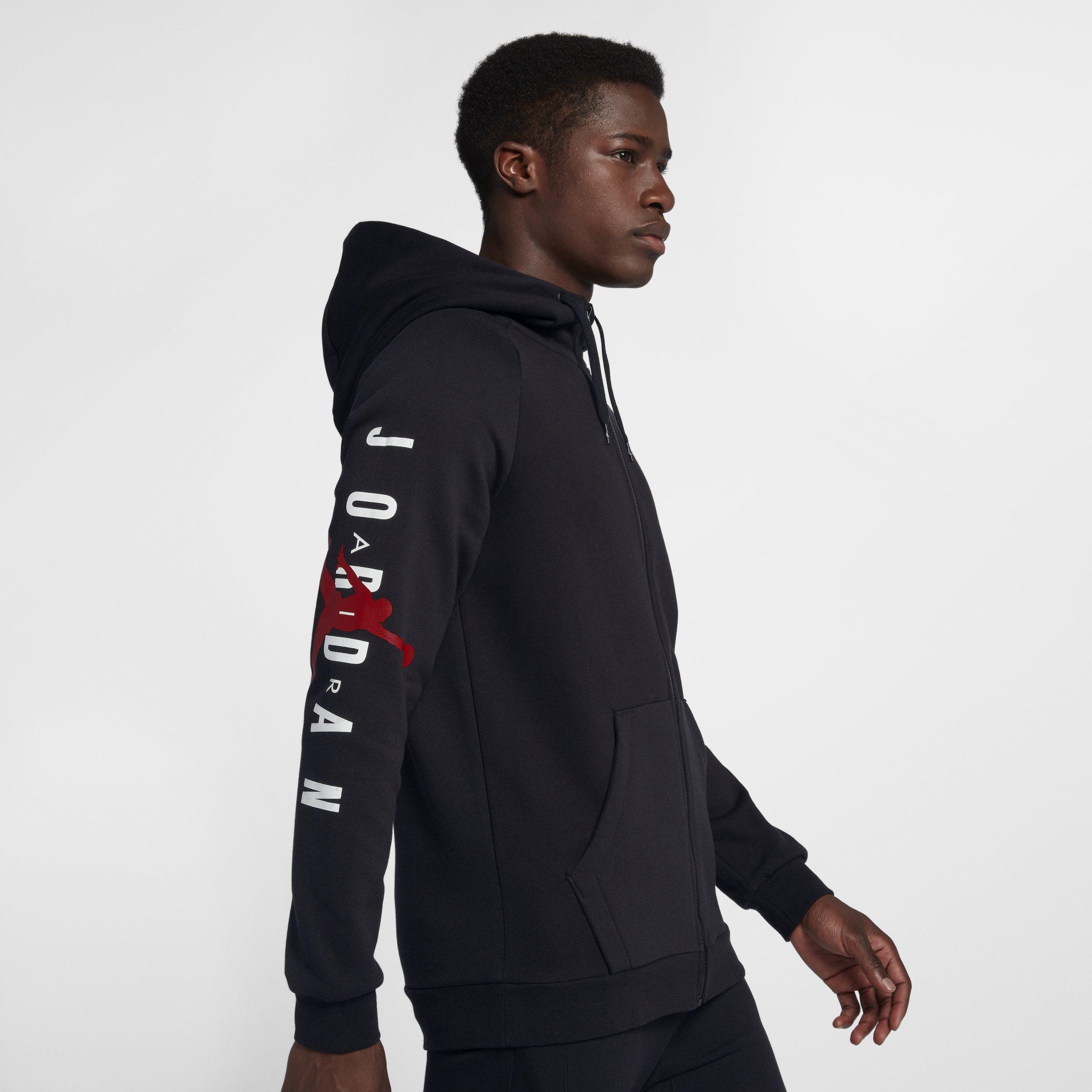 quality design 769d2 95749 Nike Jordan Jumpman Air Fleece Full-zip Hoodie in Black for Men - Lyst