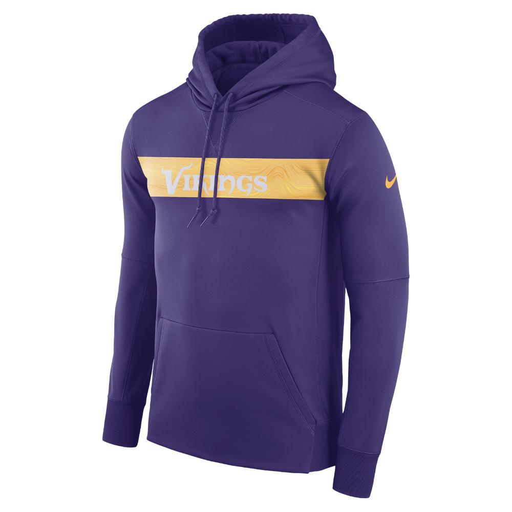 Lyst - Nike Dri-fit Therma (nfl Vikings) Men s Pullover Hoodie in ... 15cb31282