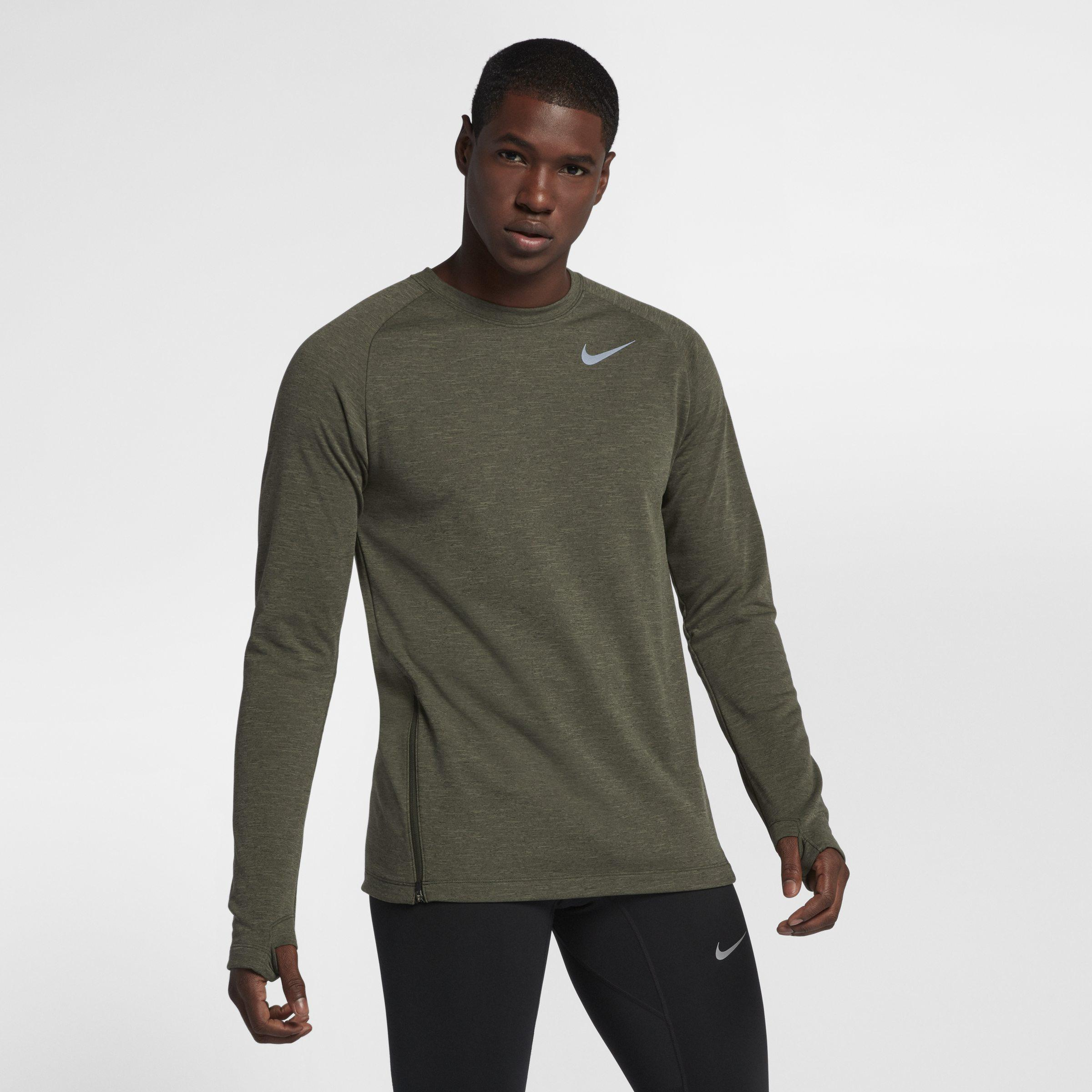 ecfd47c24 Nike Therma-sphere Element Long-sleeve Running Top in Green for Men ...