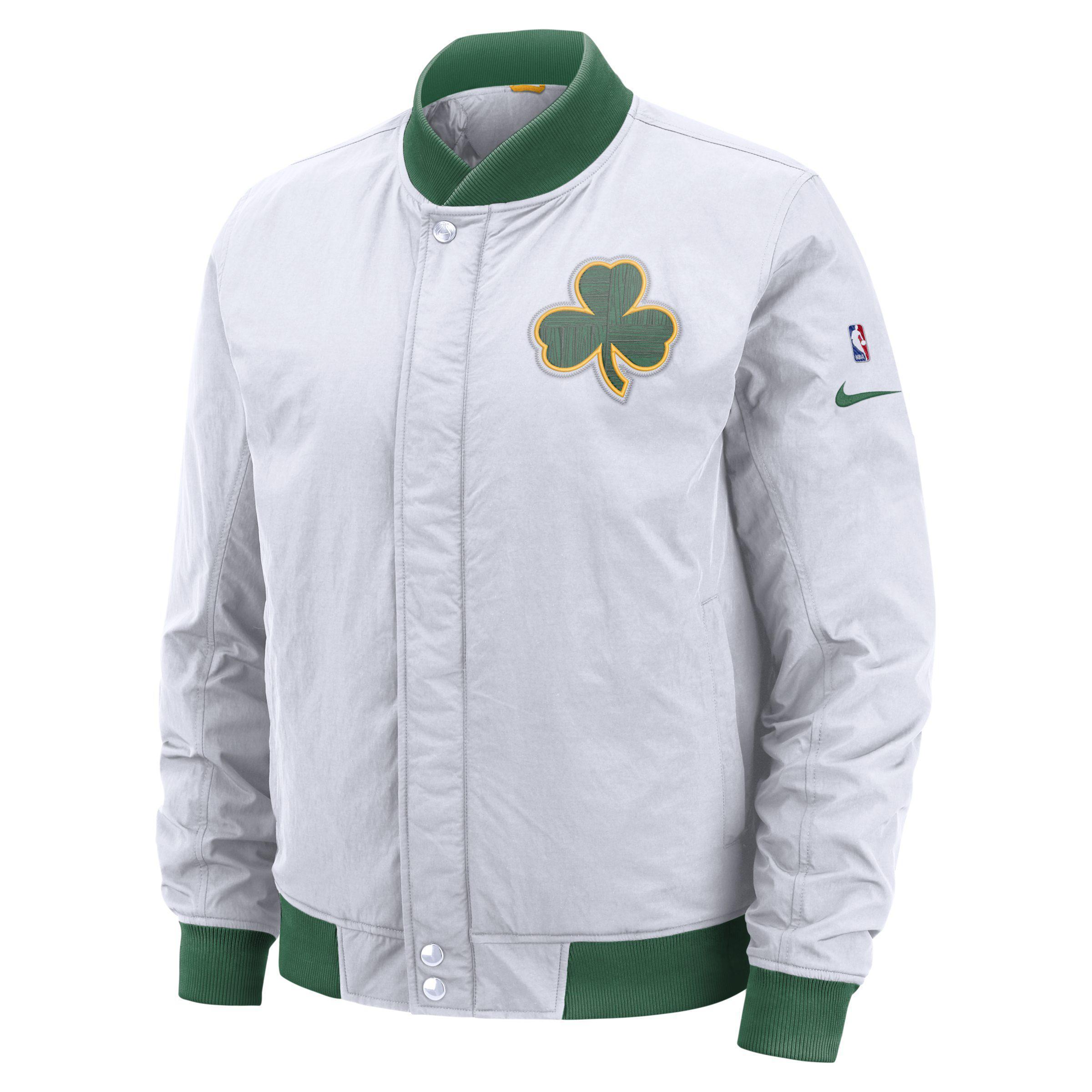 f42d74b50d1 Nike Boston Celtics Courtside Nba Jacket in White for Men - Lyst