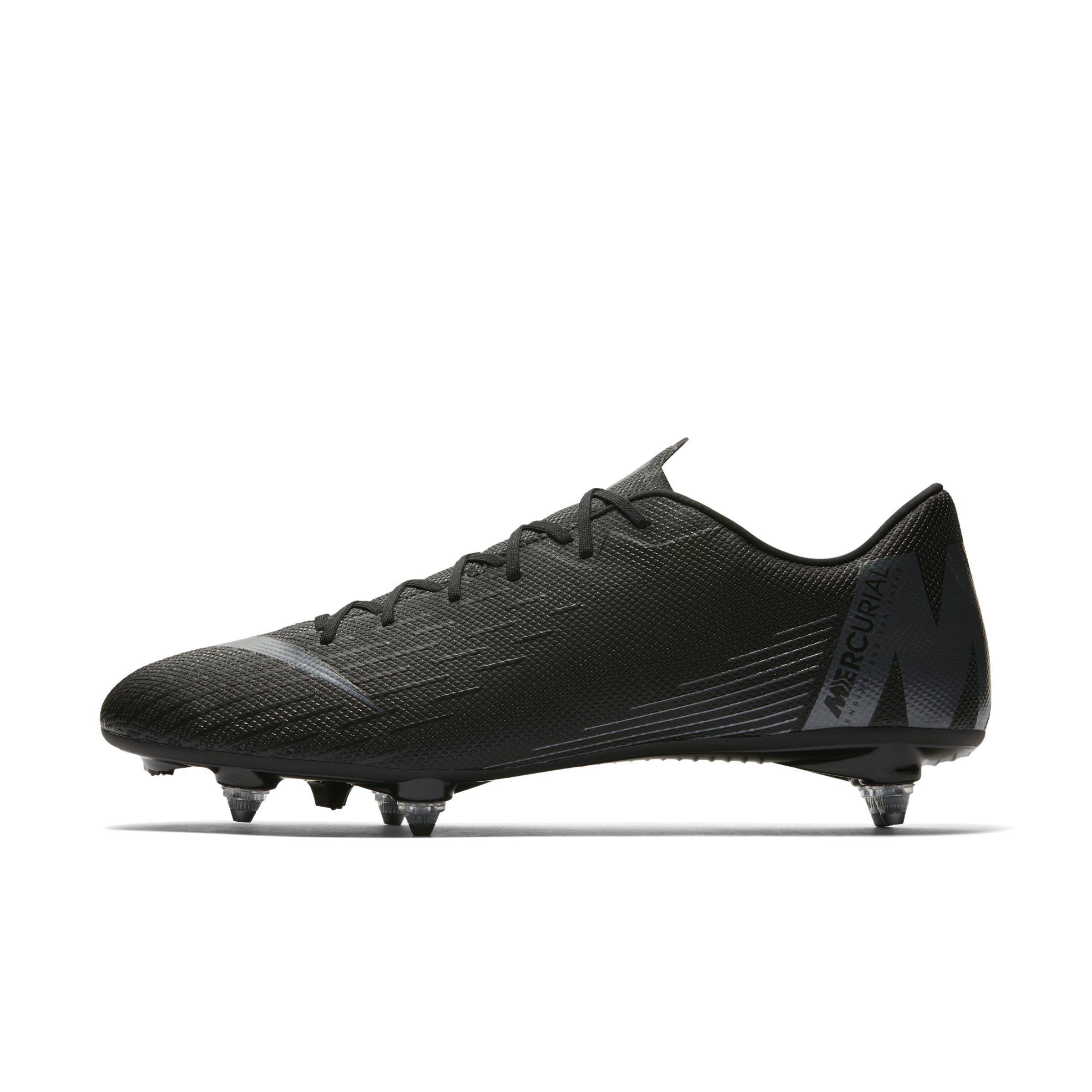 Nike. Women s Black Mercurial Vapor Xii Academy Sg-pro Soft-ground Football  Boot 24ac1ca4e
