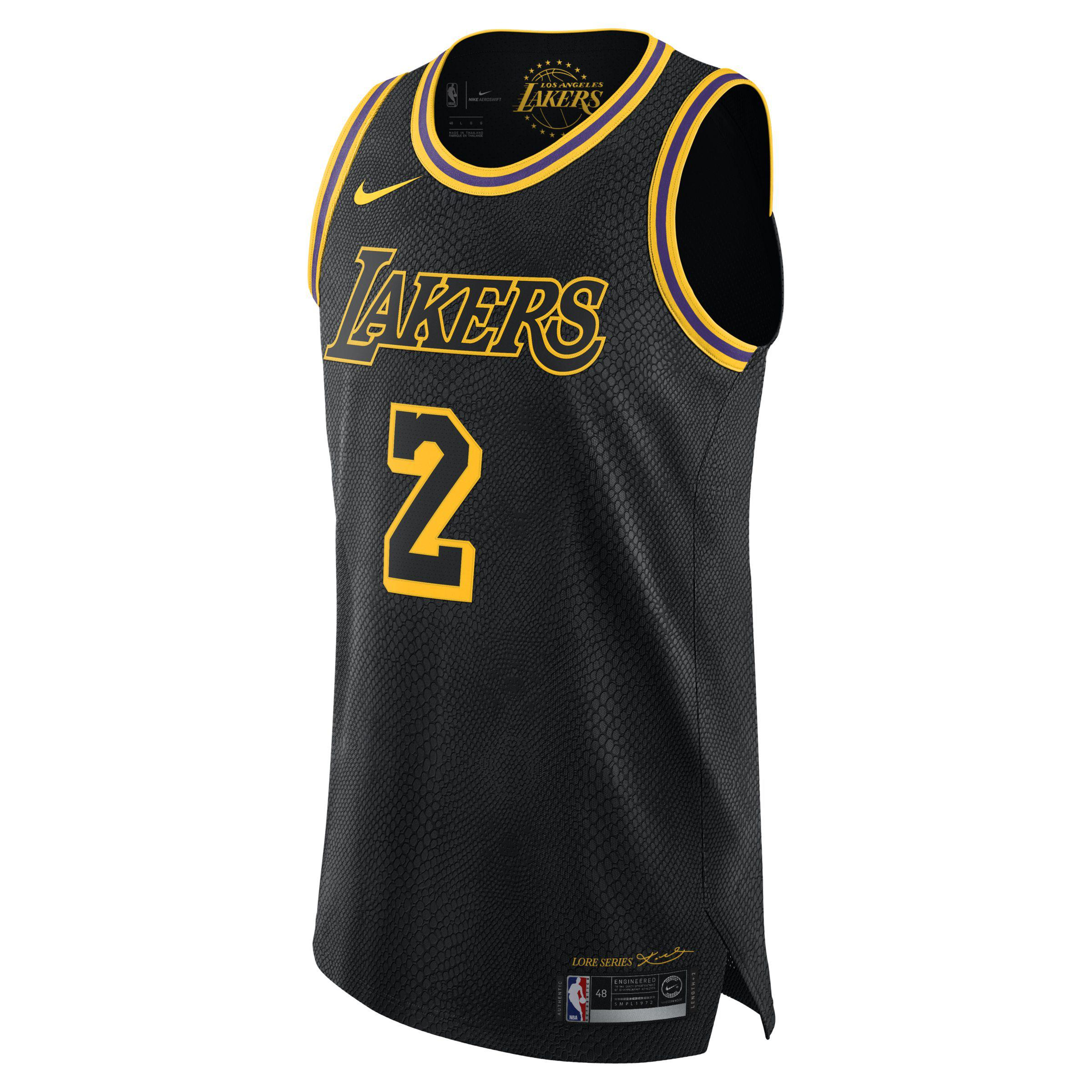 e8d59a194 Nike. Men s Black Lonzo Ball City Edition Authentic Jersey (los Angeles  Lakers) Nba Connected Jersey
