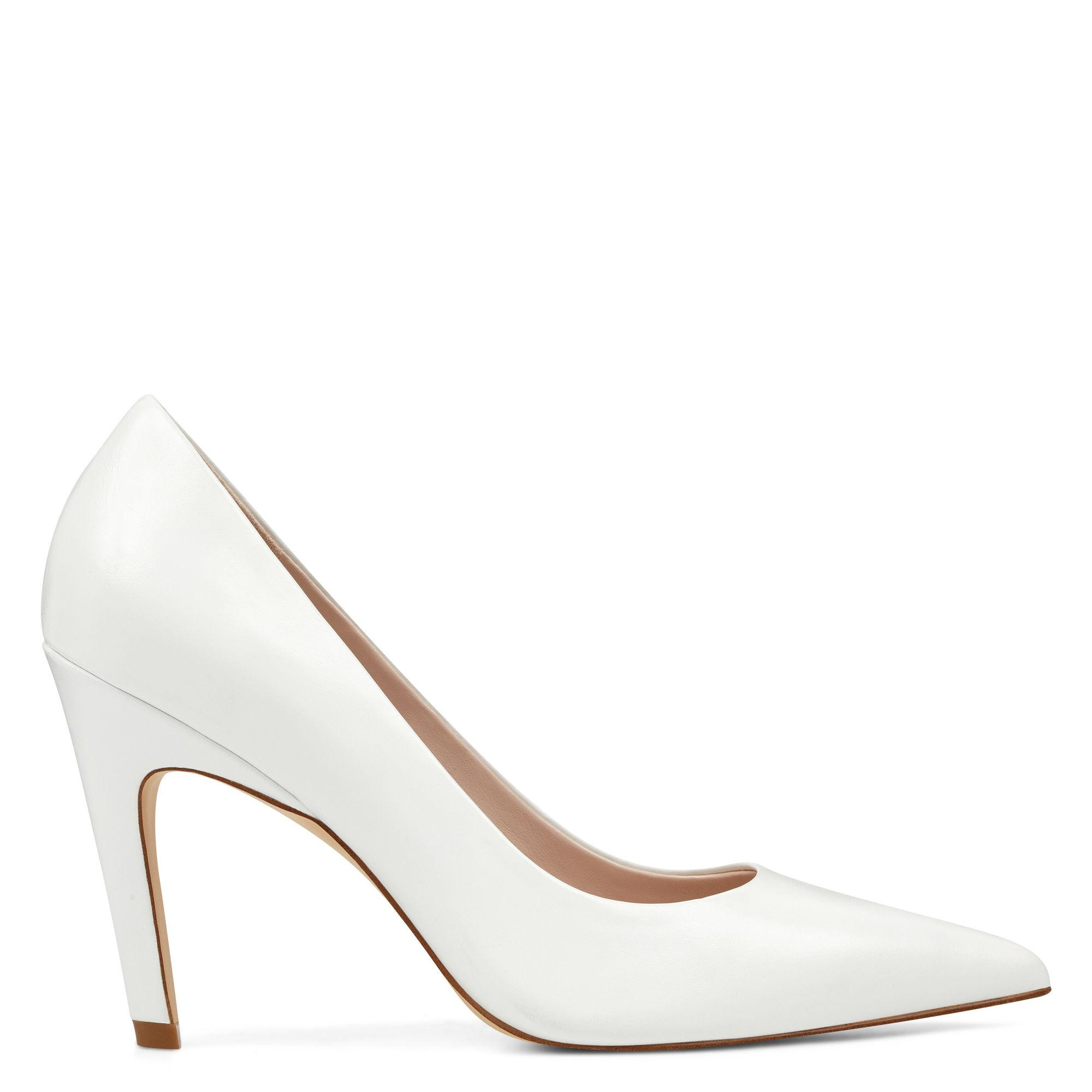 6468e9cb0c Nine West - White Quintrell Pointy Toe Pumps - Lyst. View fullscreen