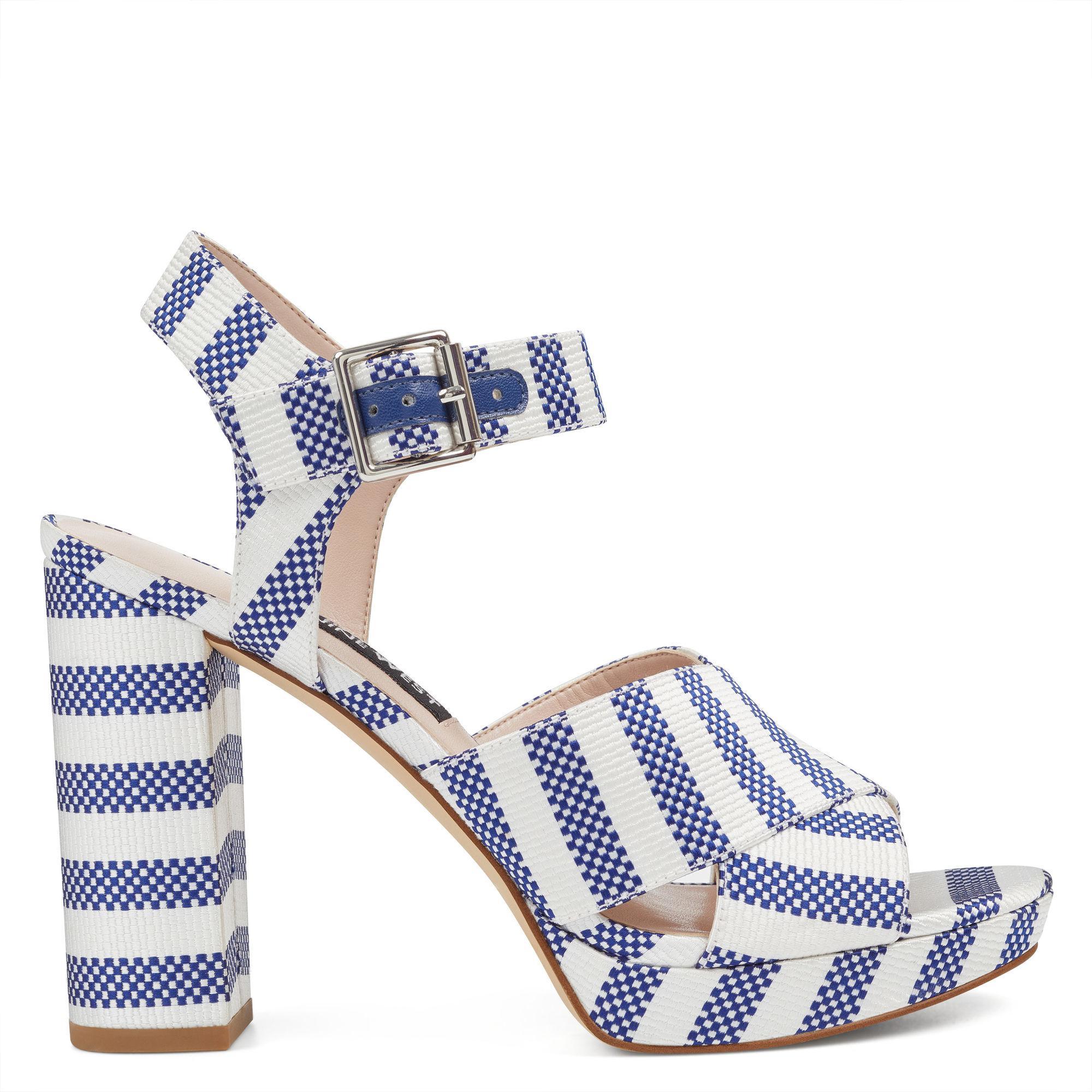 c6a8c54967f7 Lyst - Nine West Jimar Ankle-strap Platform Sandals in Blue