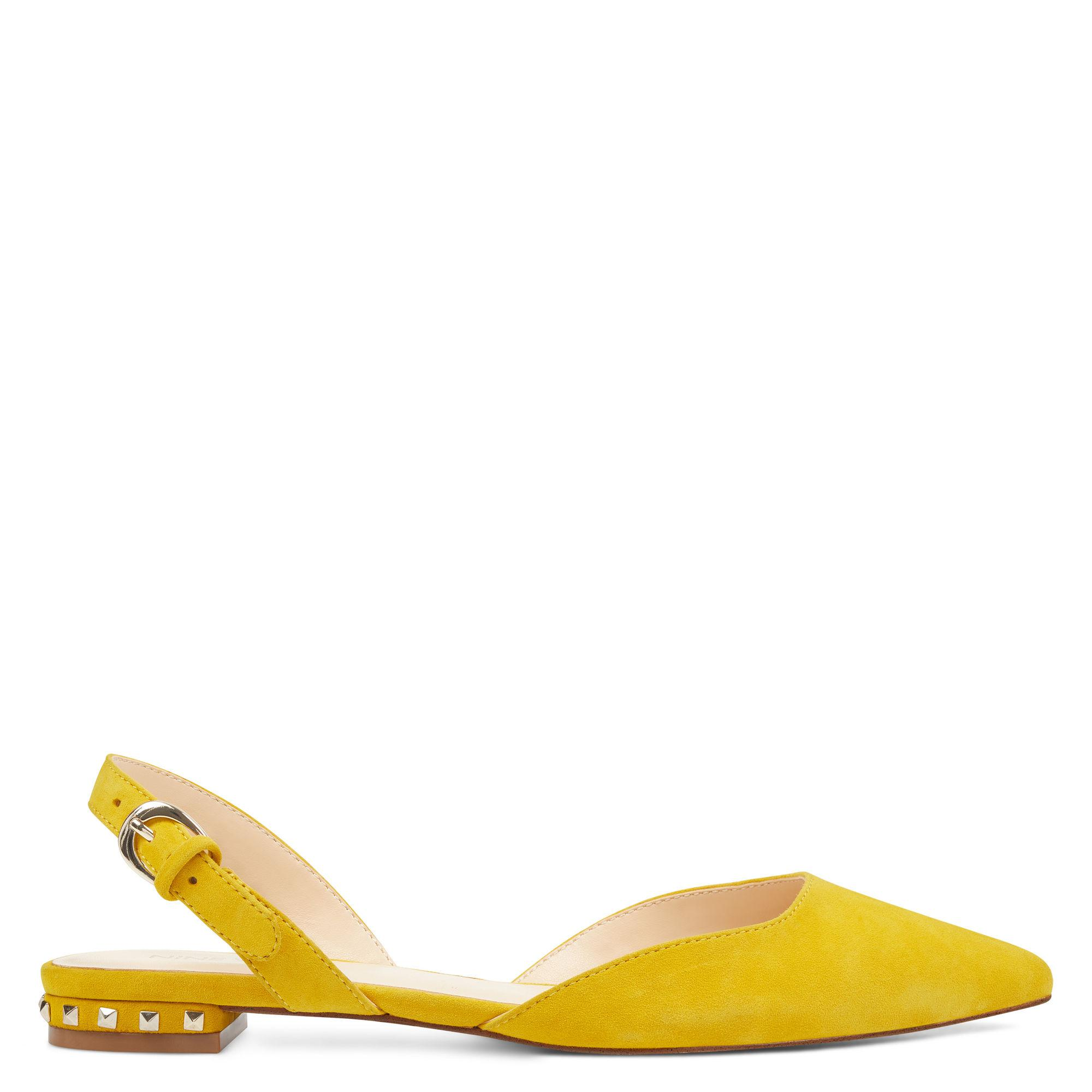 1f176731101 Lyst - Nine West Alora Slingback Flats in Yellow