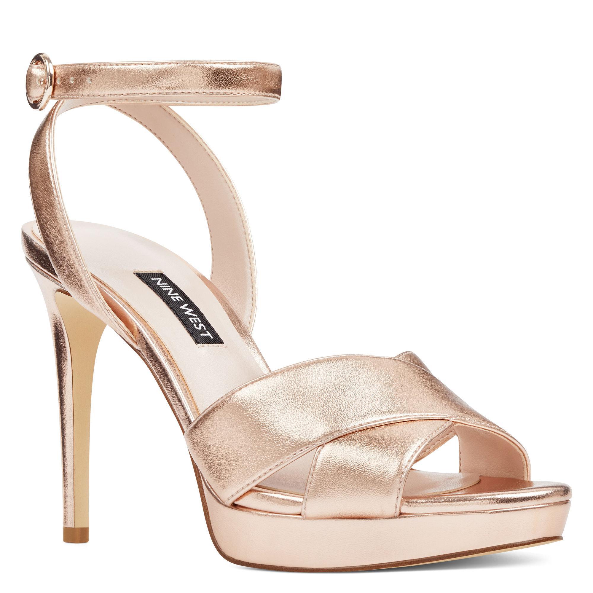 a31fbab1b498 Lyst - Nine West Quisha Ankle Strap Sandals