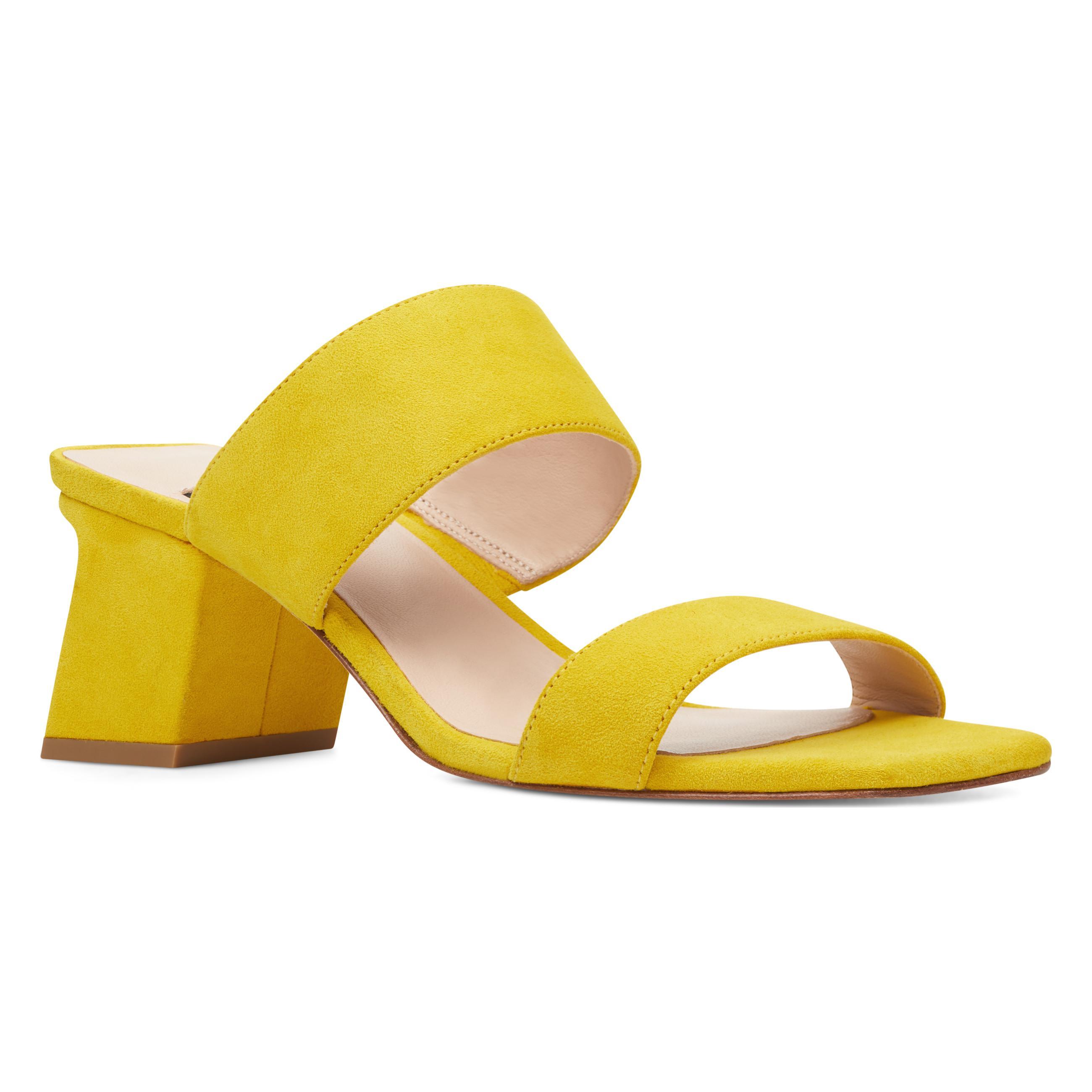 b57c46c326dc Nine West - Yellow Churen Double Strap Mule Sandals - Lyst. View fullscreen