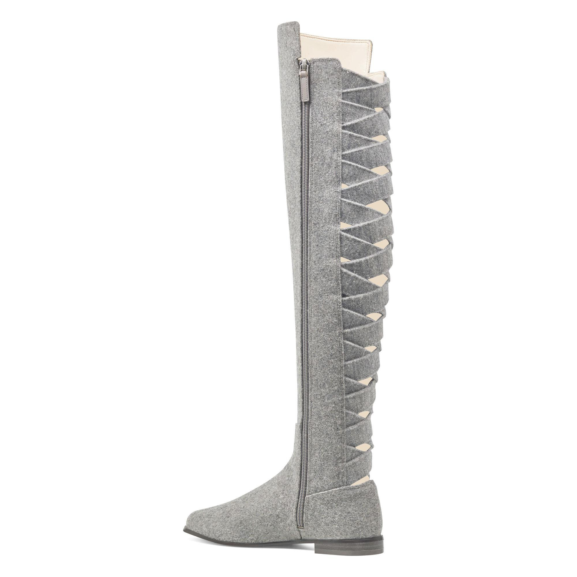 5c9eacc0f84 Lyst - Nine West Eltynn Over The Knee Boots in Gray