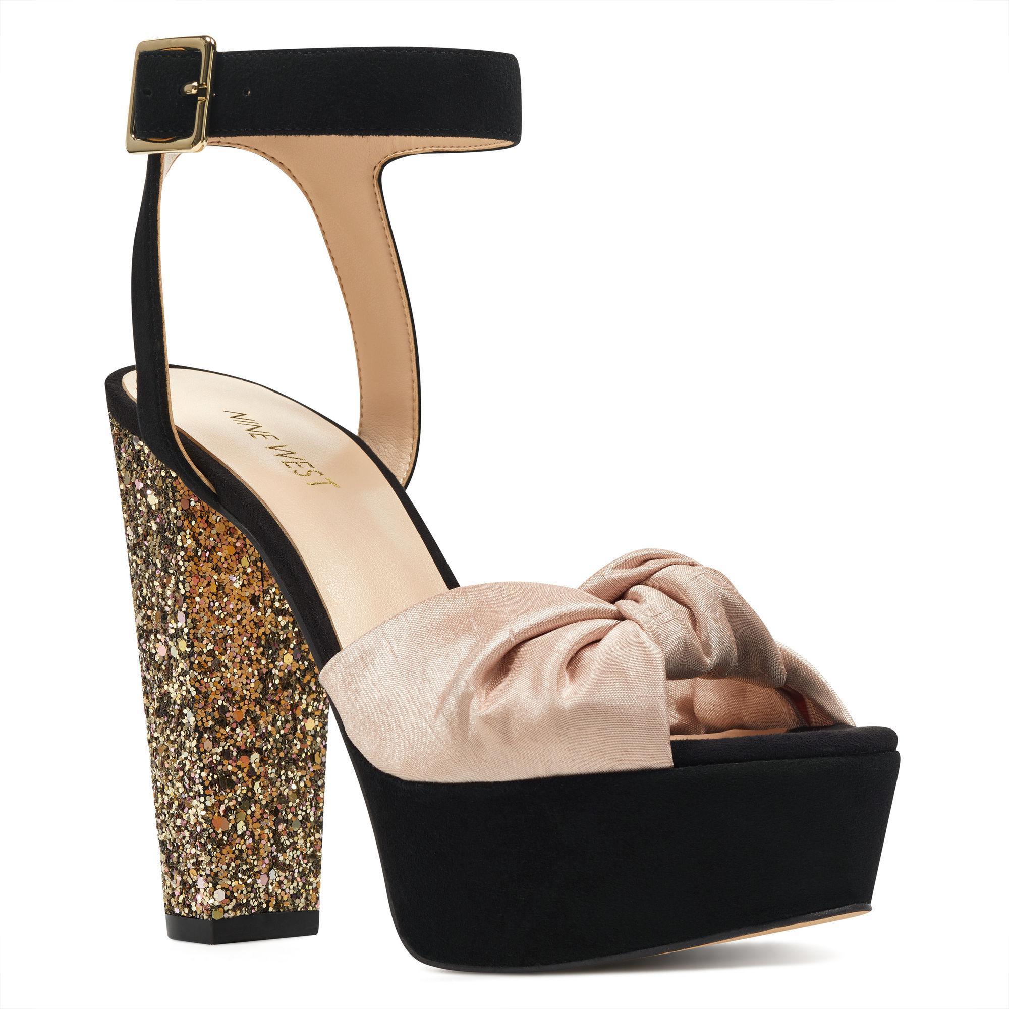 7f58a1fb59da Lyst - Nine West Cuverma Ankle Strap Sandals