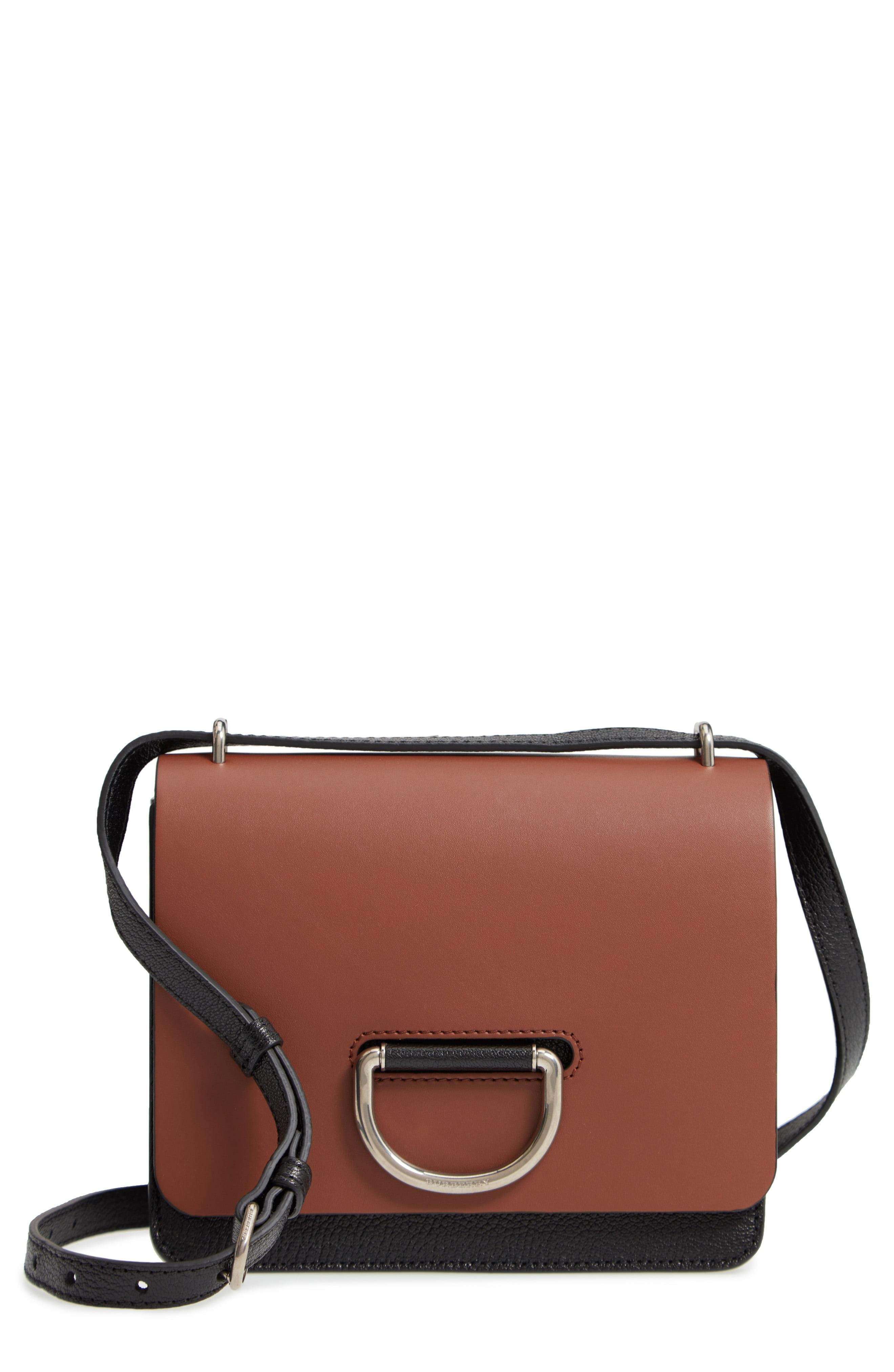 069e437c25f Burberry Small D-ring Leather Crossbody Bag in Brown - Save 43% - Lyst