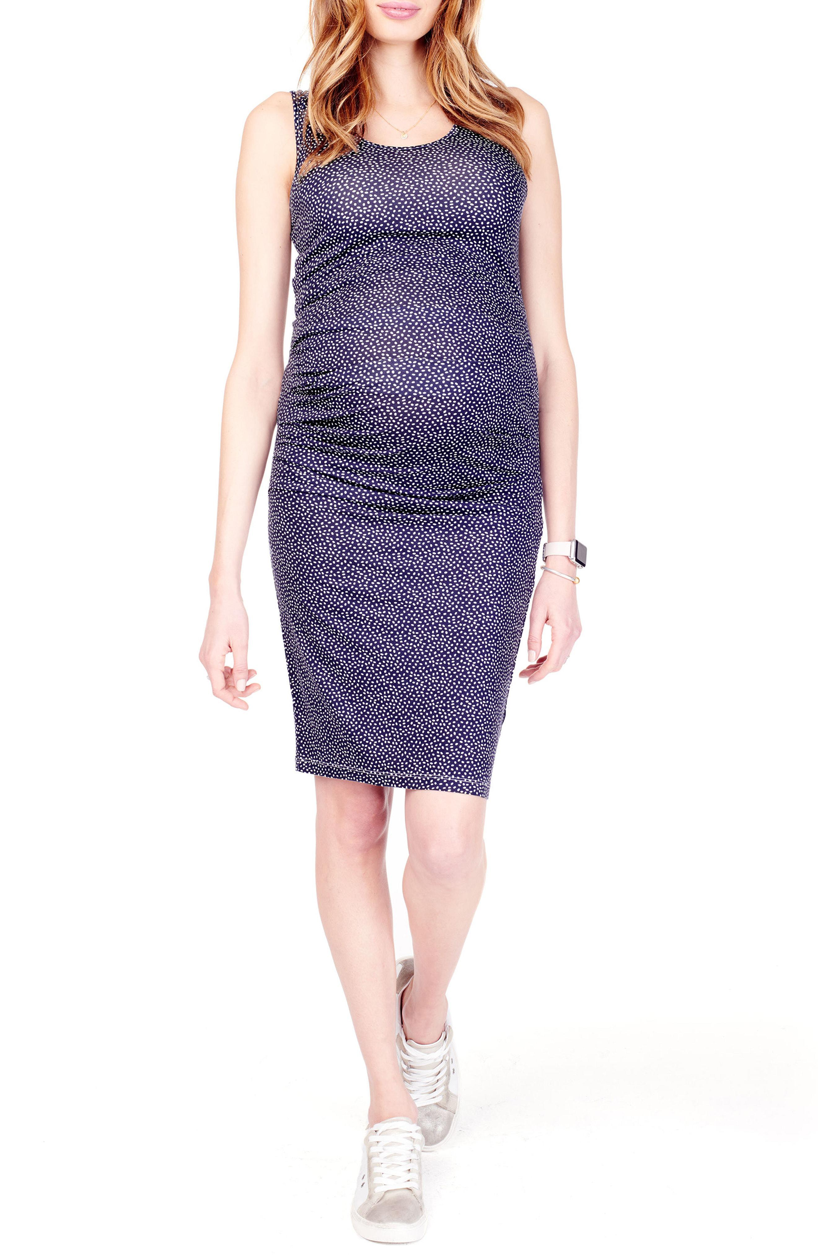 f98168a4220 Ingrid   Isabel. Women s Purple Ingrid   Isabel Ruched Maternity Tank Dress