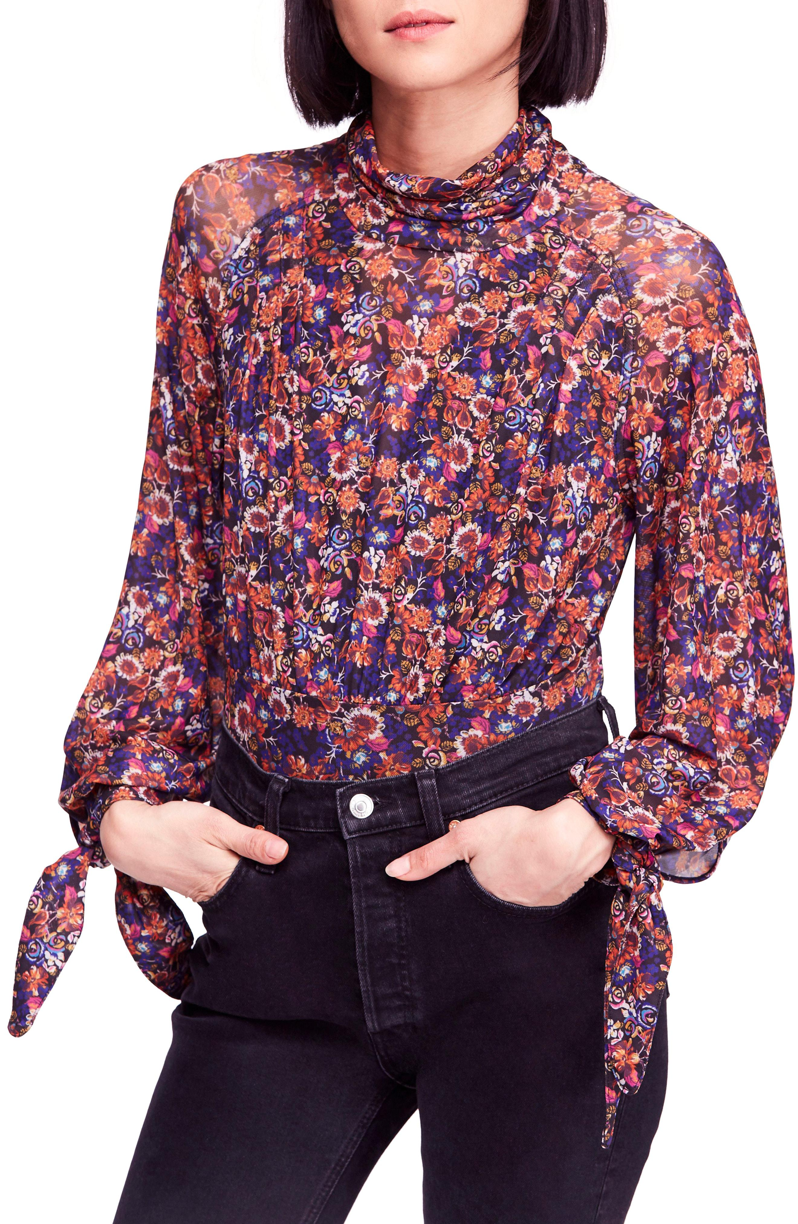 8e20ff196f8 Lyst - Free People All Dolled Up Blouse in Red