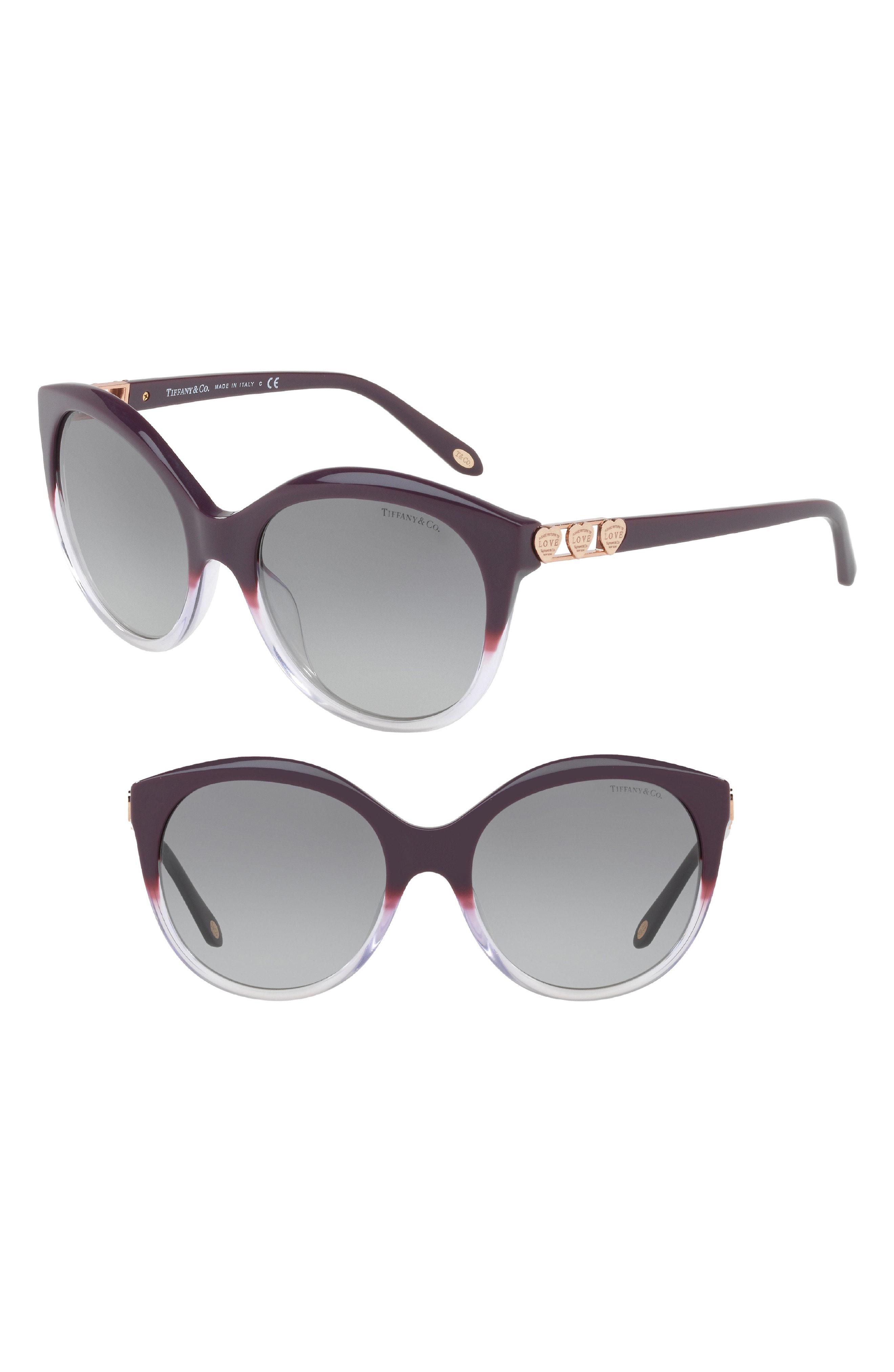 5236e1ca17 Lyst - Tiffany   Co. 56mm Sunglasses - Purple Gradient