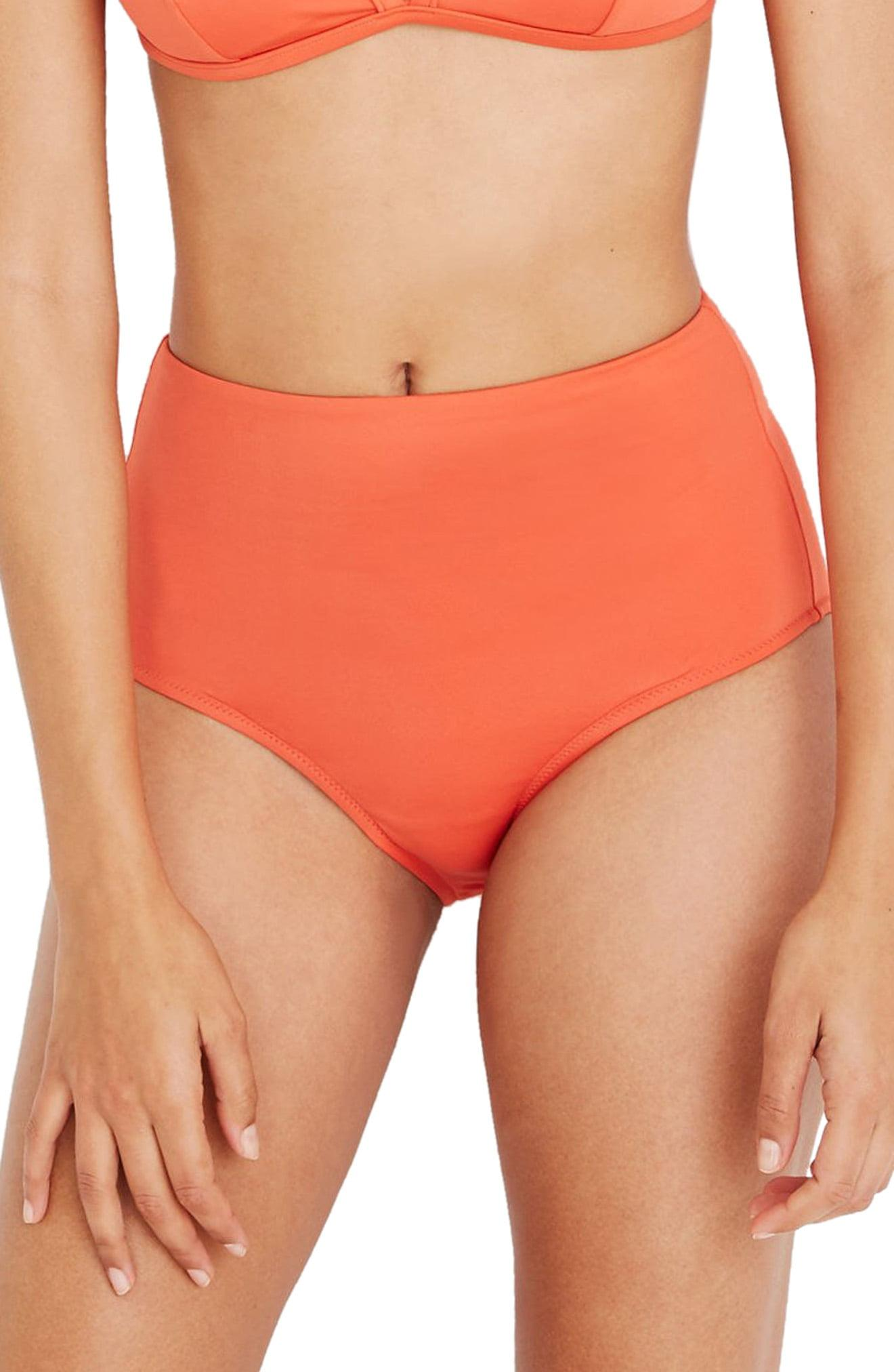 97e365de86 Lyst - Madewell Second Wave Retro High-wasted Bikini Bottoms in Orange