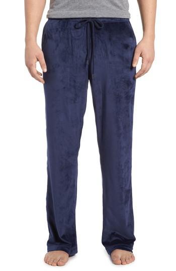 Daniel Buchler Stretch Velvet Lounge Trousers In Blue For