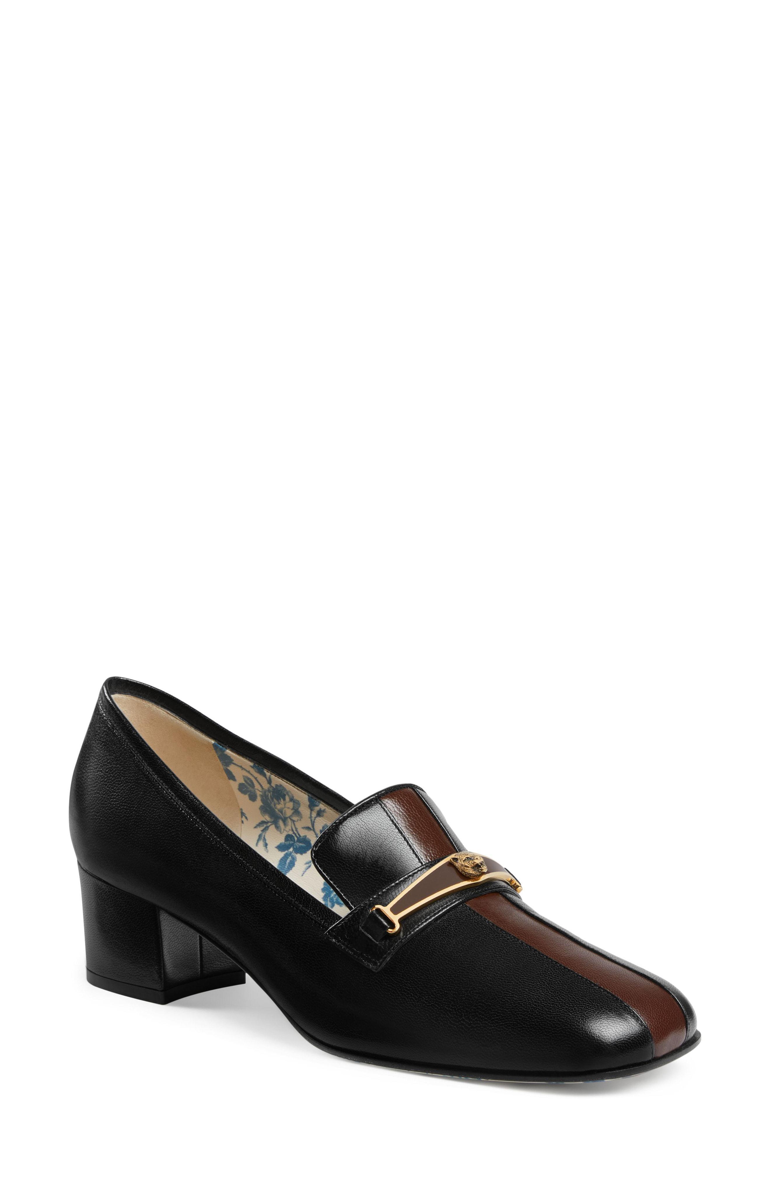 653f1d2abaf Lyst - Gucci Loafer Pump in Black