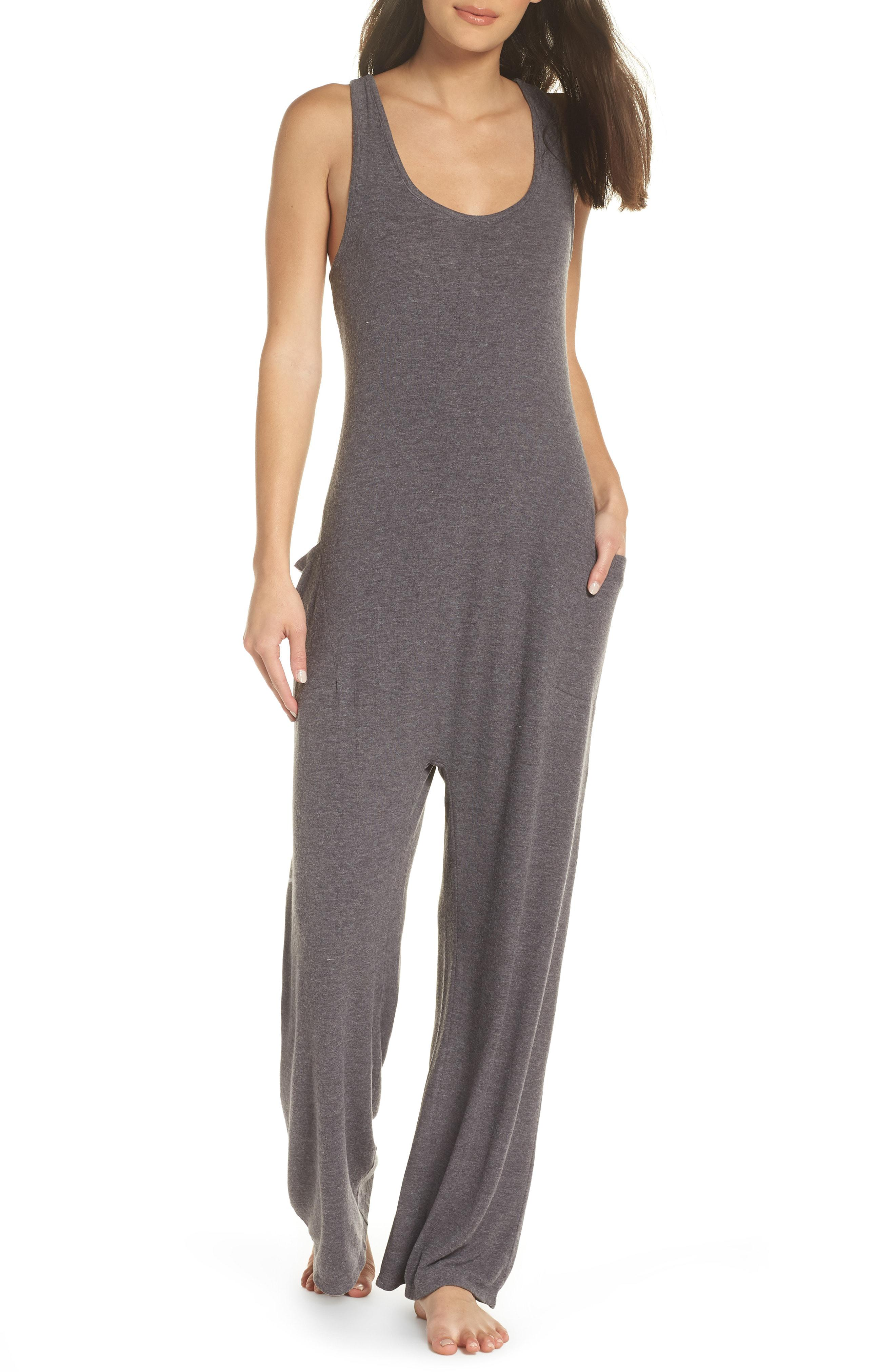 2322824ac20 Lyst - Honeydew Intimates Luxe Lounge Jumpsuit in Gray