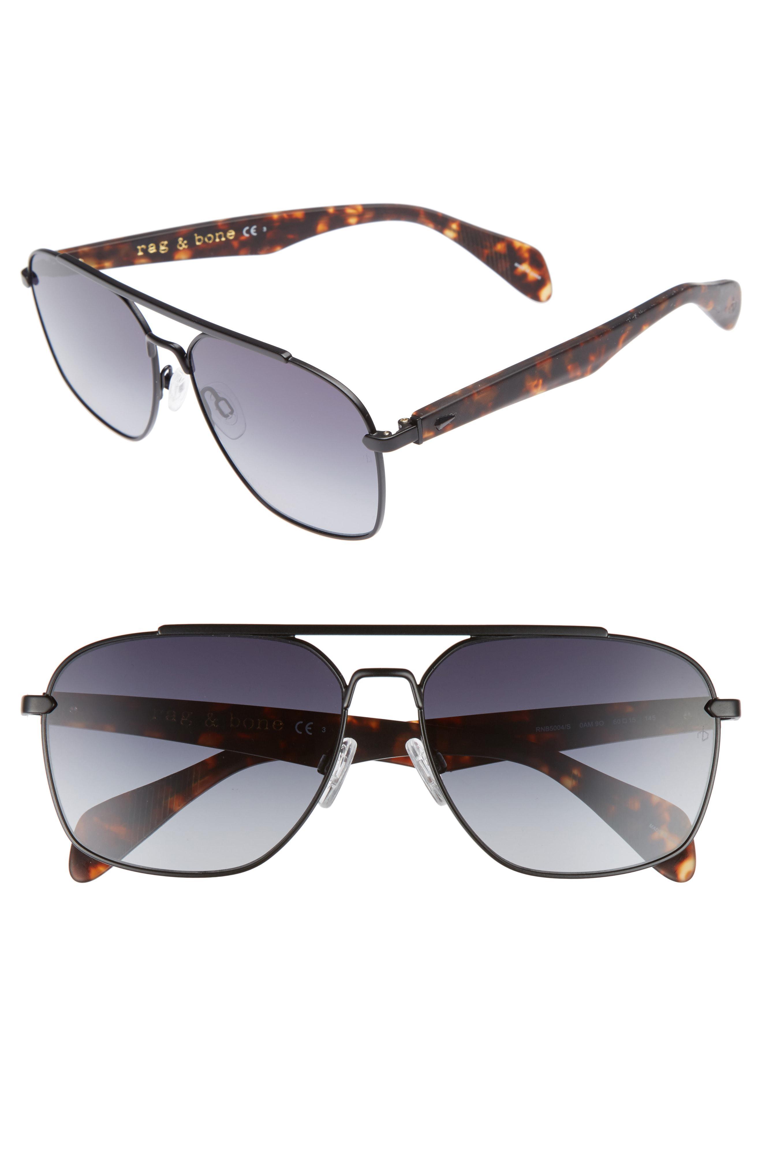 945246babcb Lyst - Rag   Bone 60mm Gradient Navigator Sunglasses - in Metallic ...