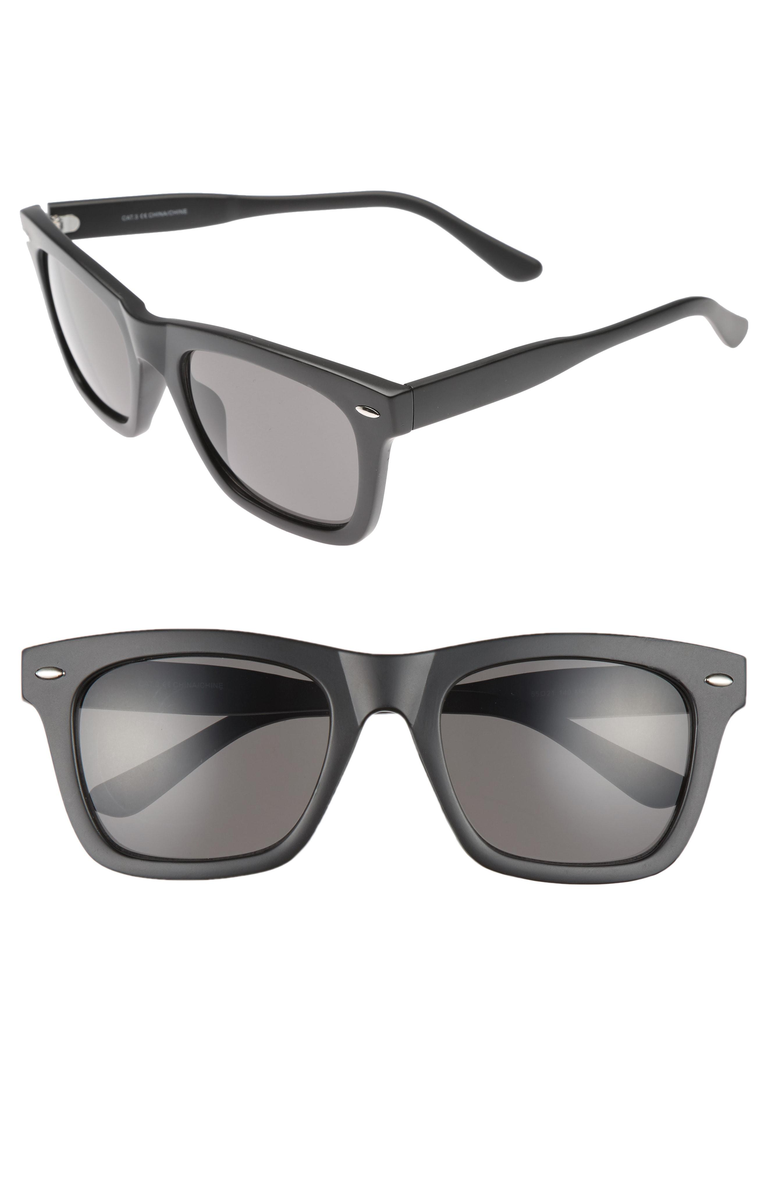 a203d7544cf Nordstrom 1901 Julian 55mm Square Sunglasses in Gray for Men - Lyst