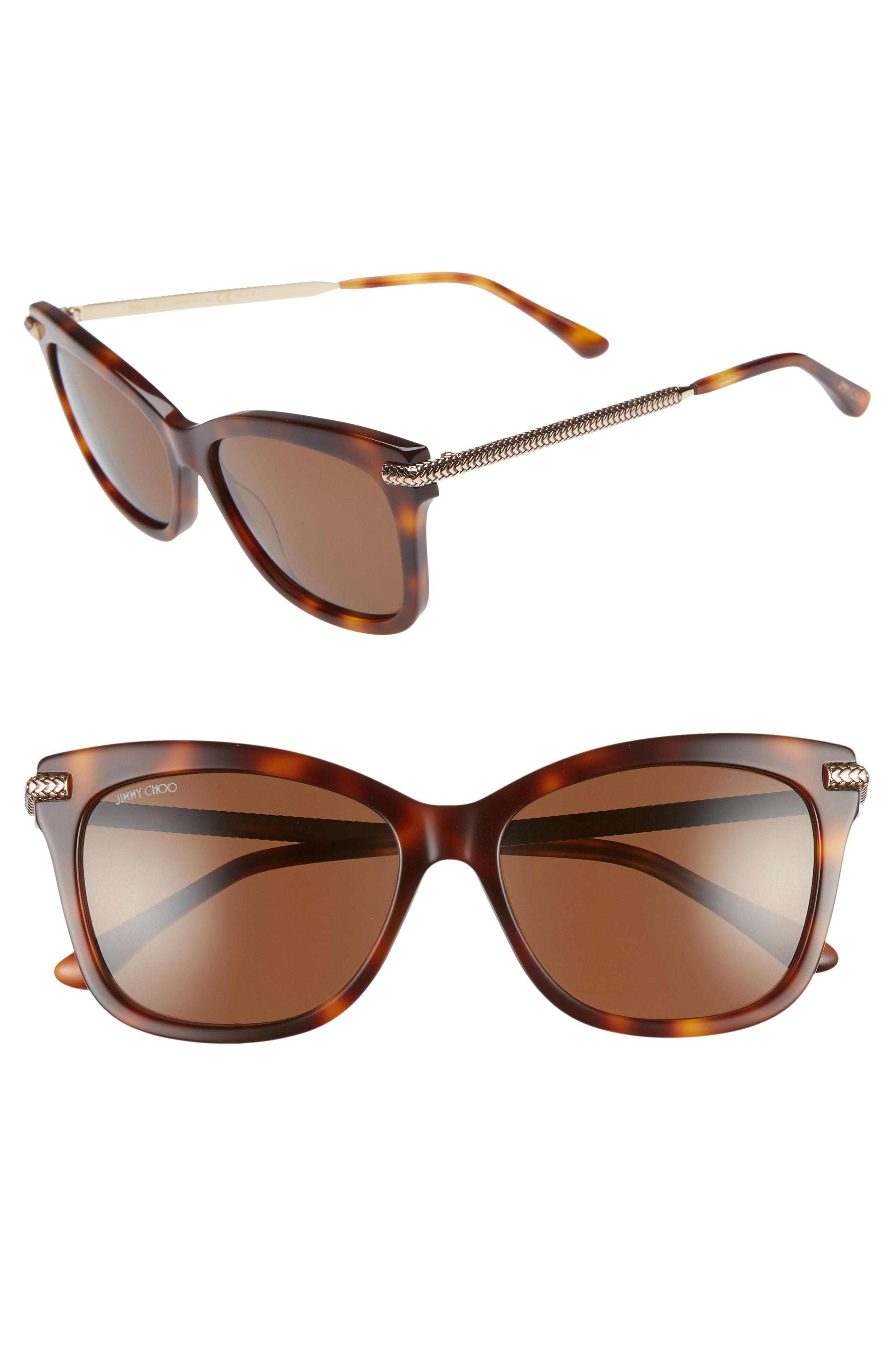 46d070124f3 Jimmy Choo - Brown Shade 55mm Cat Eye Sunglasses - - Lyst. View fullscreen