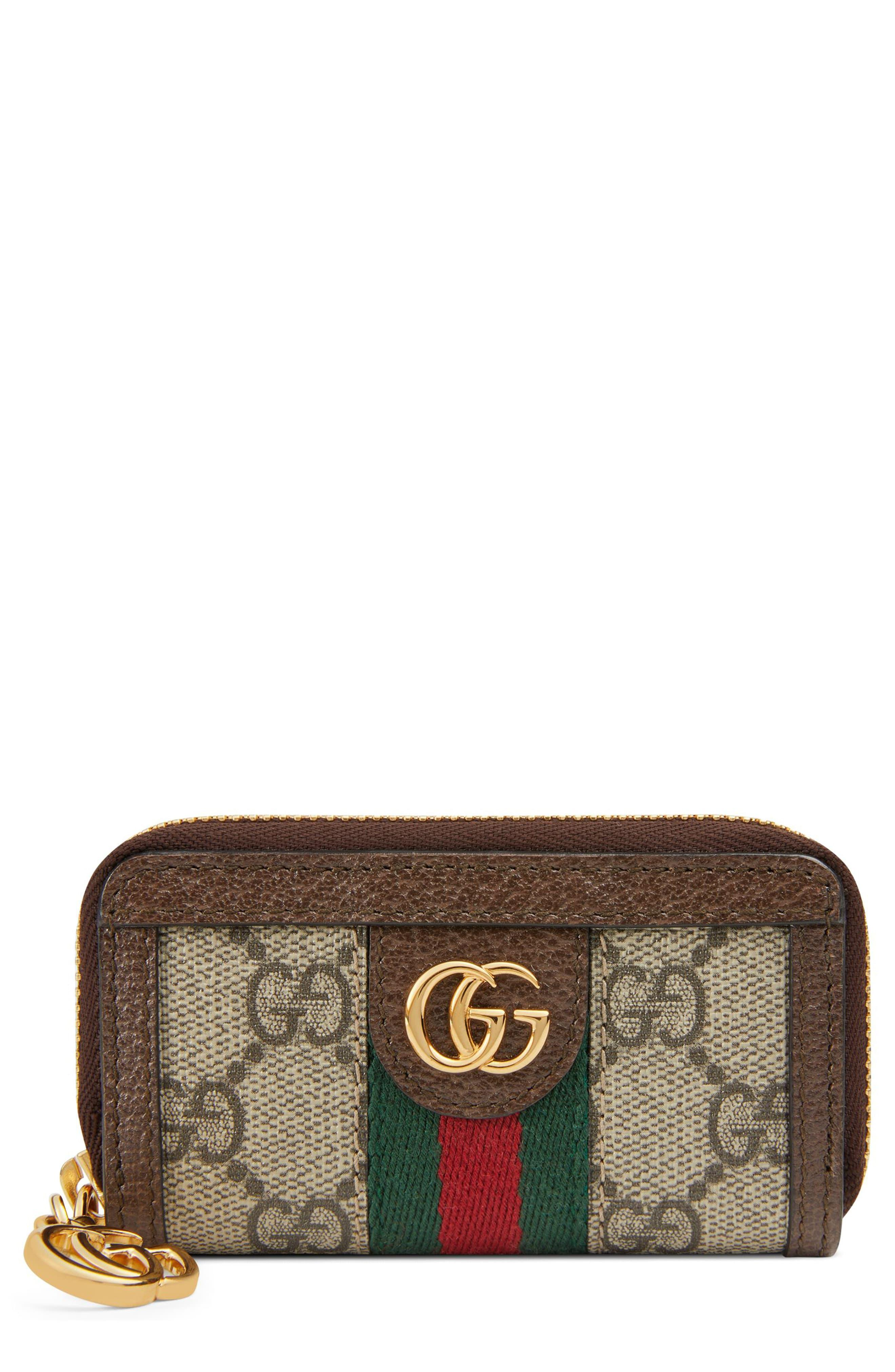fdf03adfd84776 Gucci Ophidia Gg Supreme Zip-around Key Case in Natural - Lyst