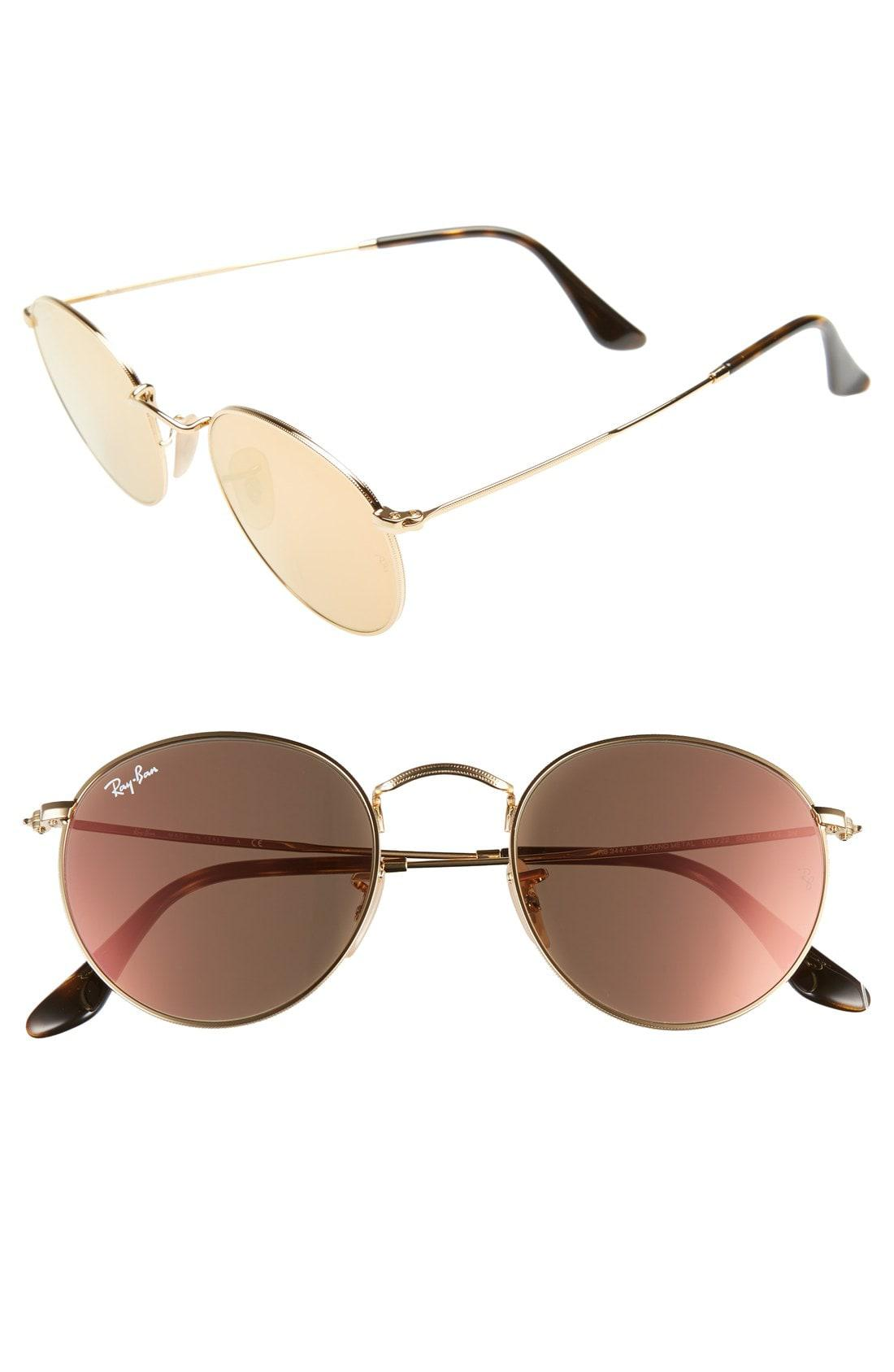 Lyst - Ray-Ban Icons 50mm Round Sunglasses - 6c7a3103e