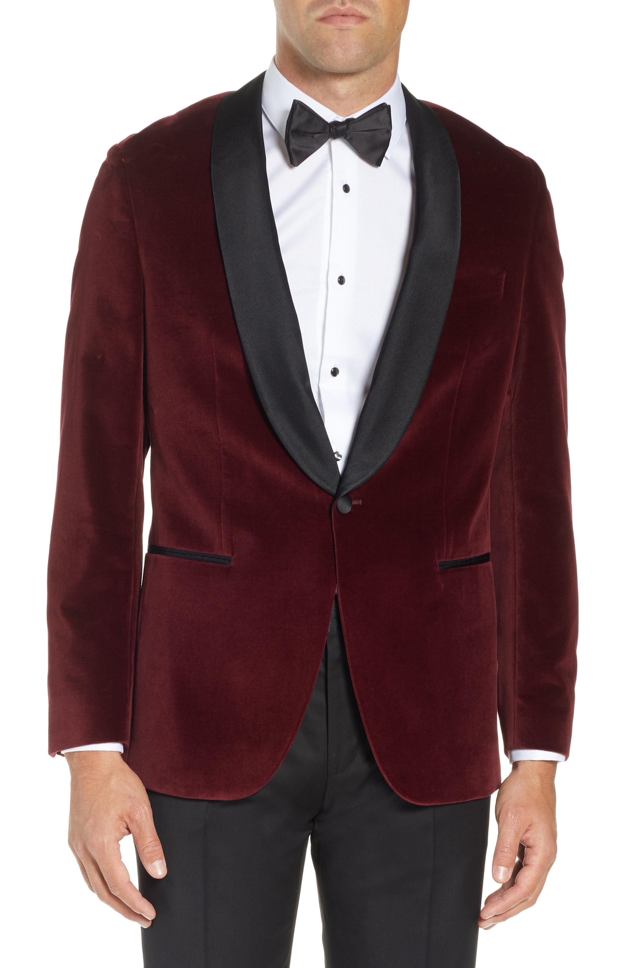 60ee6834c BOSS Hockley Slim Fit Velvet Cotton Dinner Jacket in Purple for Men ...