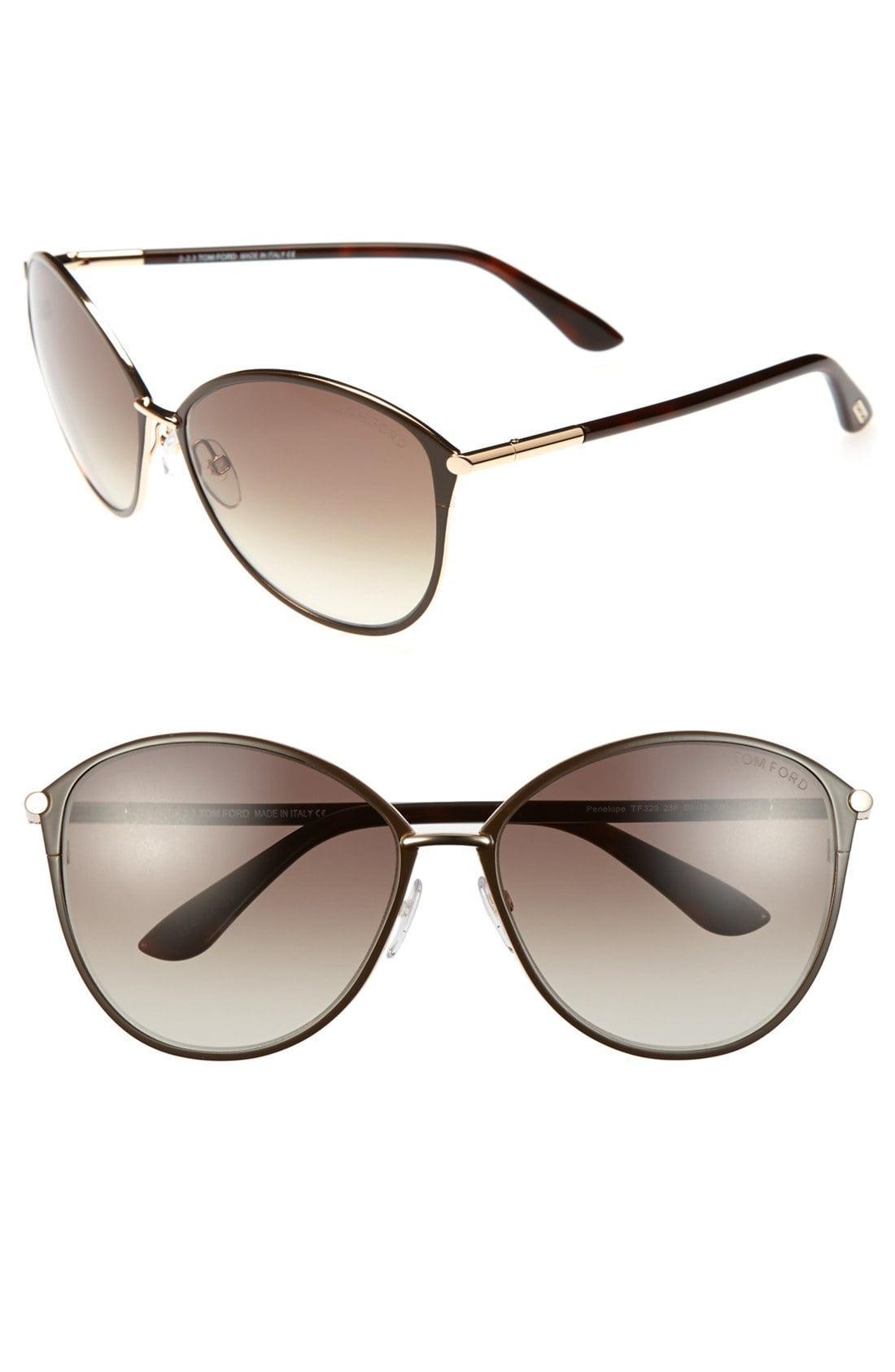 db260419b98 Lyst - Tom Ford Penelope 59mm Gradient Cat Eye Sunglasses - Shiny ...