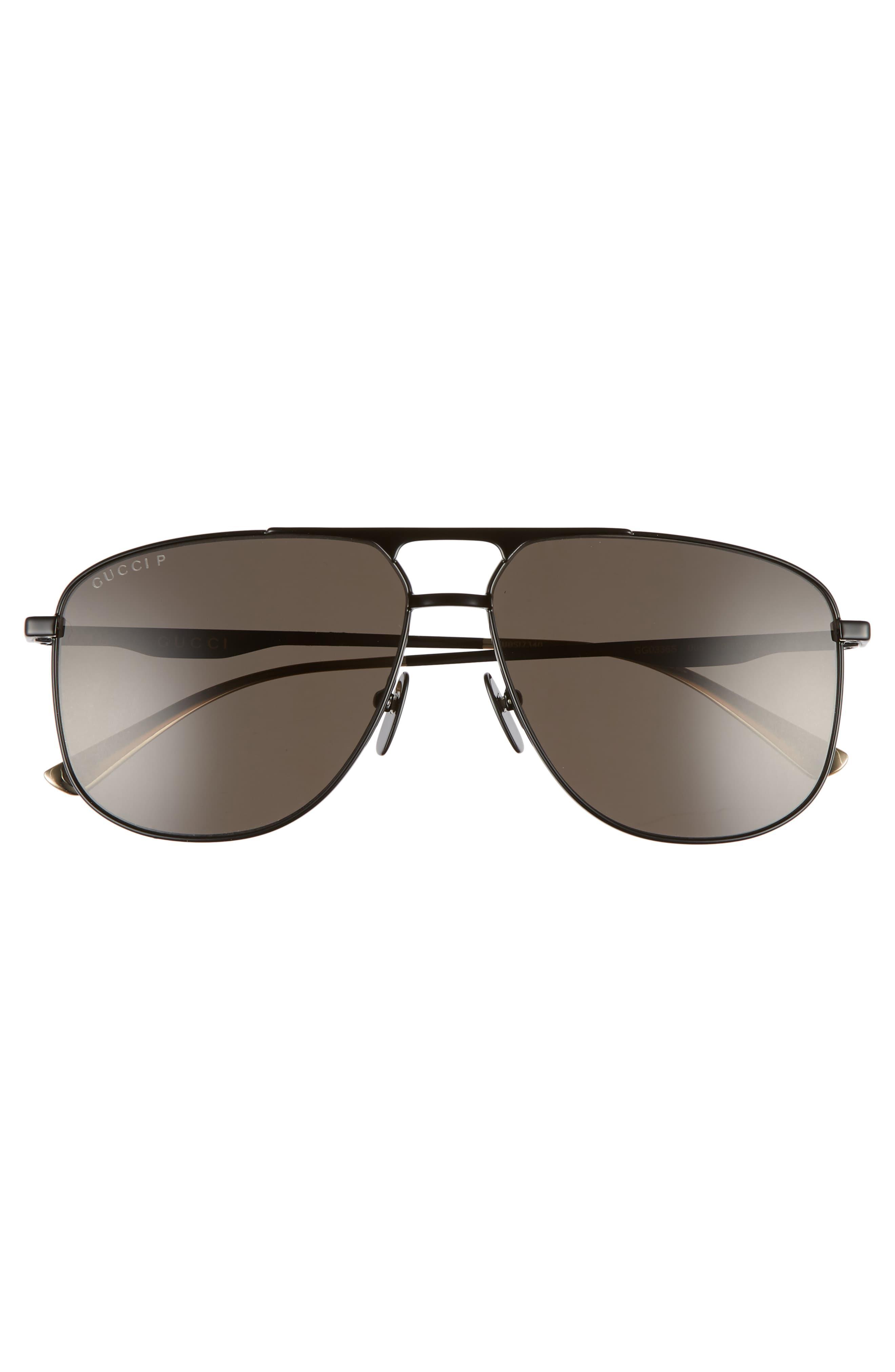 5f0e7e32c4 Gucci - Black 80s Monocolor 60mm Polarized Aviator Sunglasses for Men -  Lyst. View fullscreen