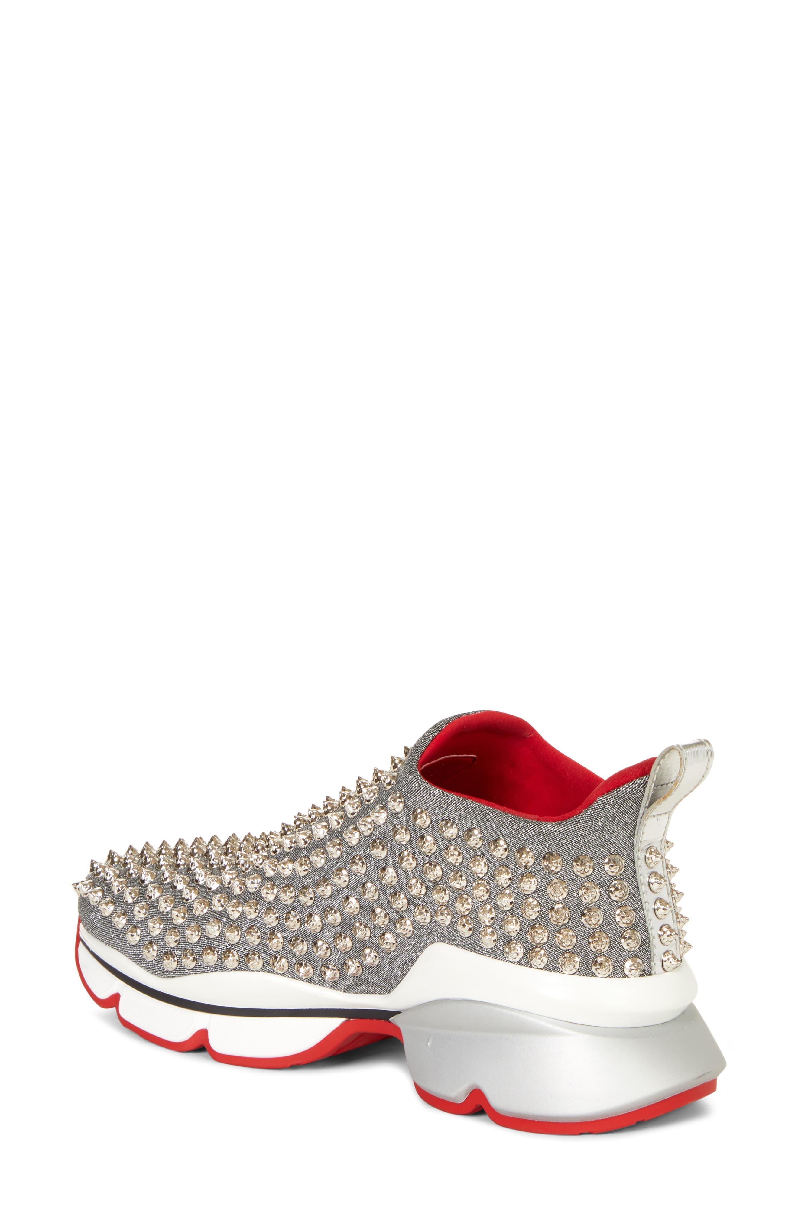 075d4bb8d2c Women's Metallic Spiky Sock-knit Slip-on Sneaker