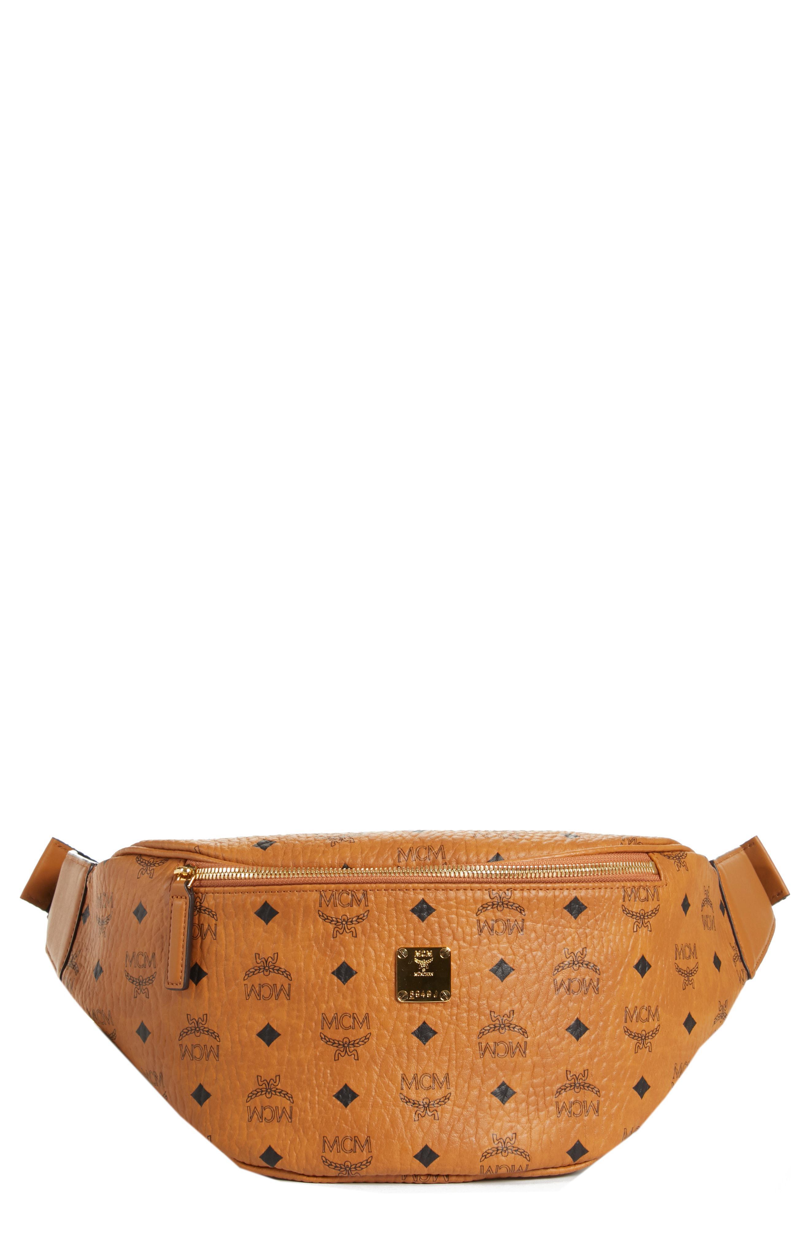 d18d918201e MCM - Brown Medium Stark Belt Bag for Men - Lyst. View fullscreen
