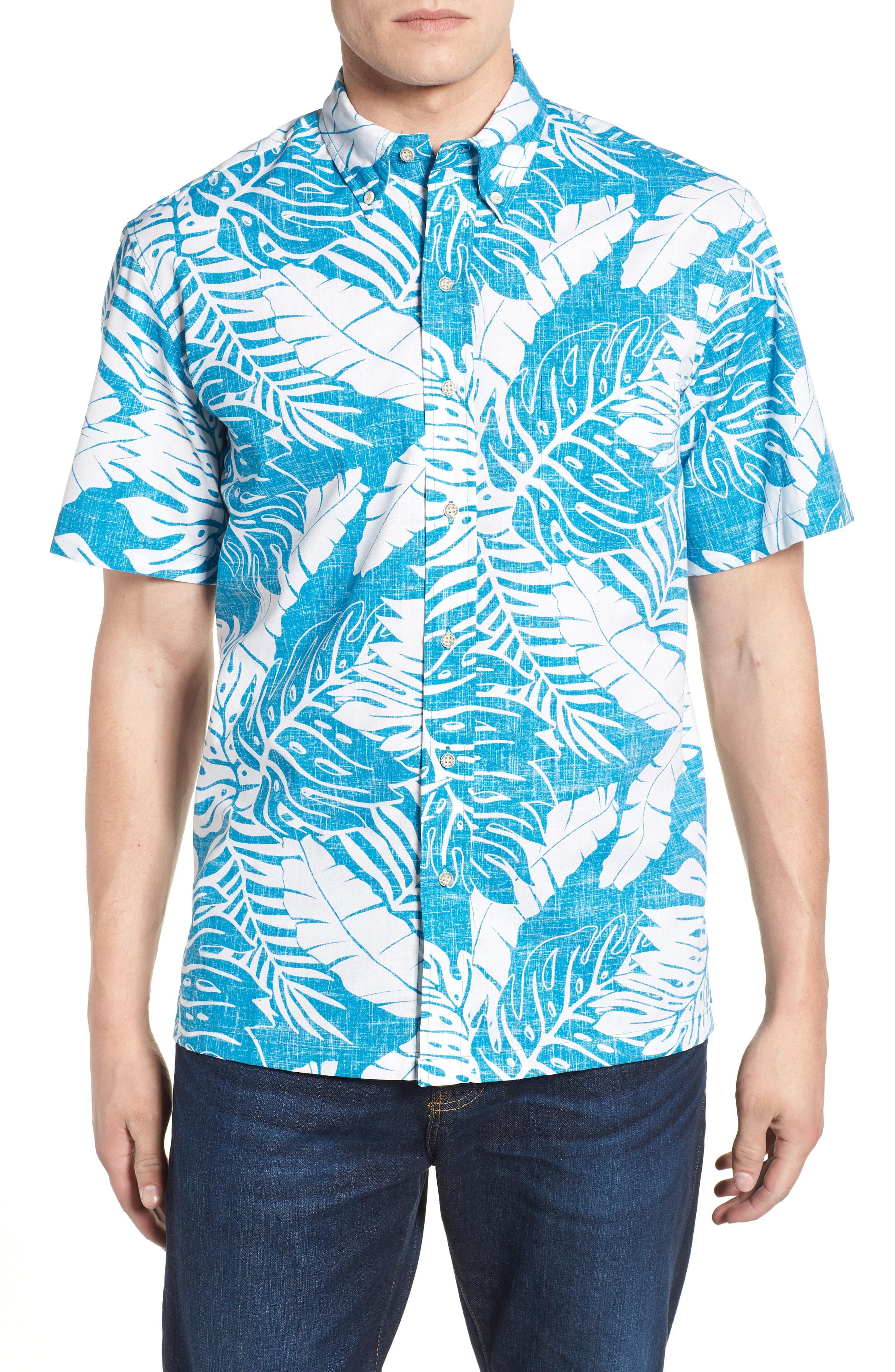 32d4f2f73e0a Lyst - Reyn Spooner Avenue Falls Classic Fit Sport Shirt in Blue for Men